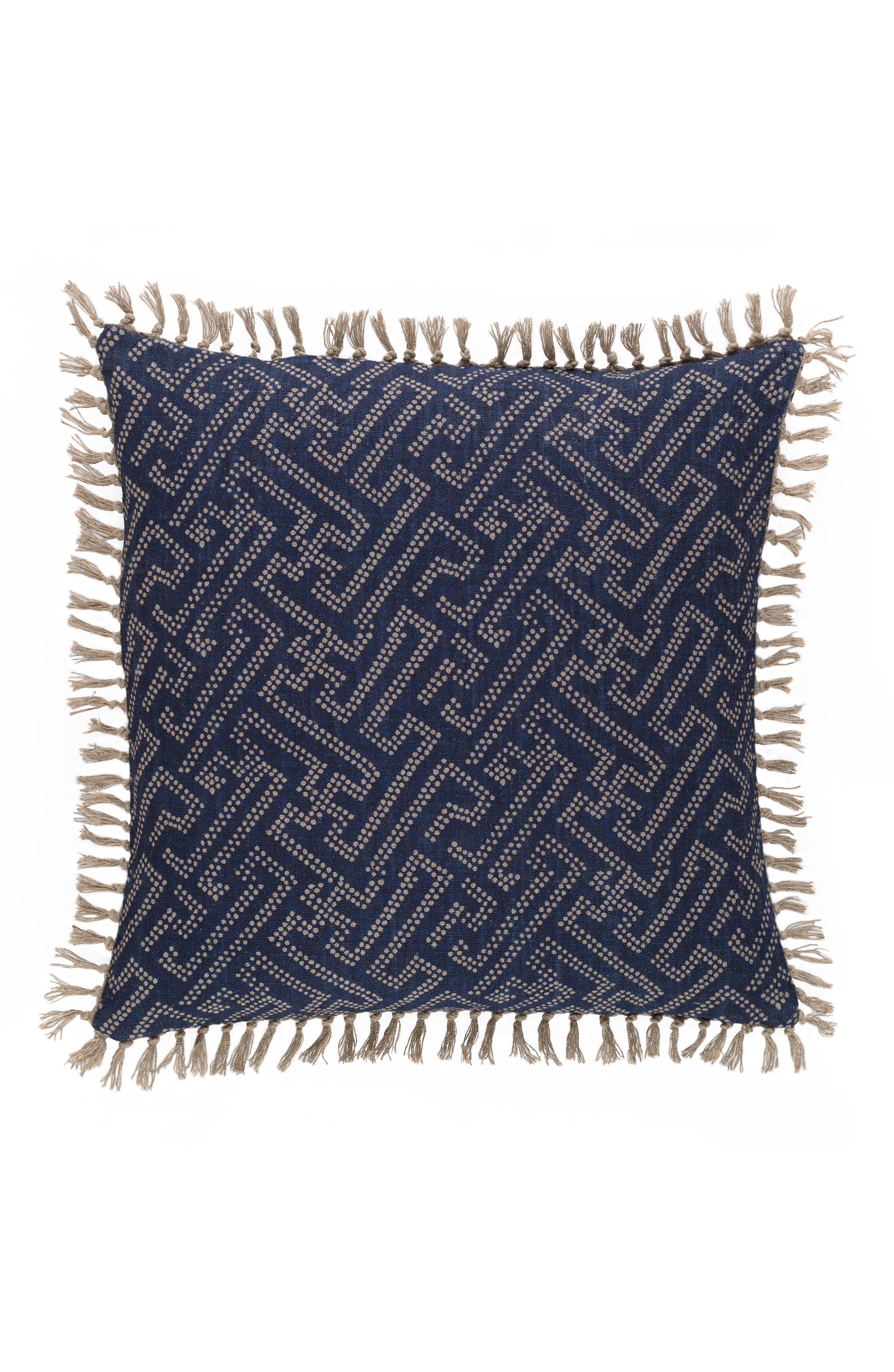 Marianna Linen Accent Pillow,                             Alternate thumbnail 2, color,                             BLUE
