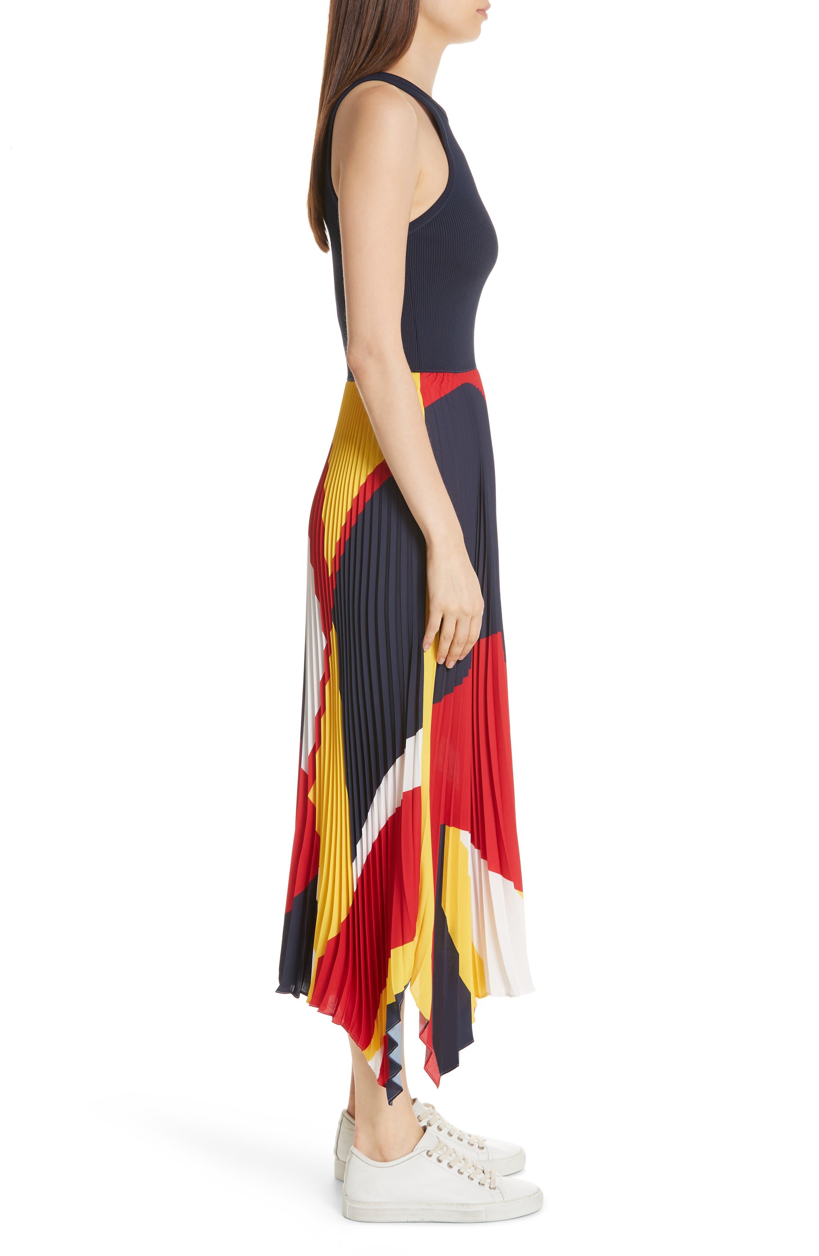 Alyah Mixed Media Dress,                             Alternate thumbnail 3, color,                             410