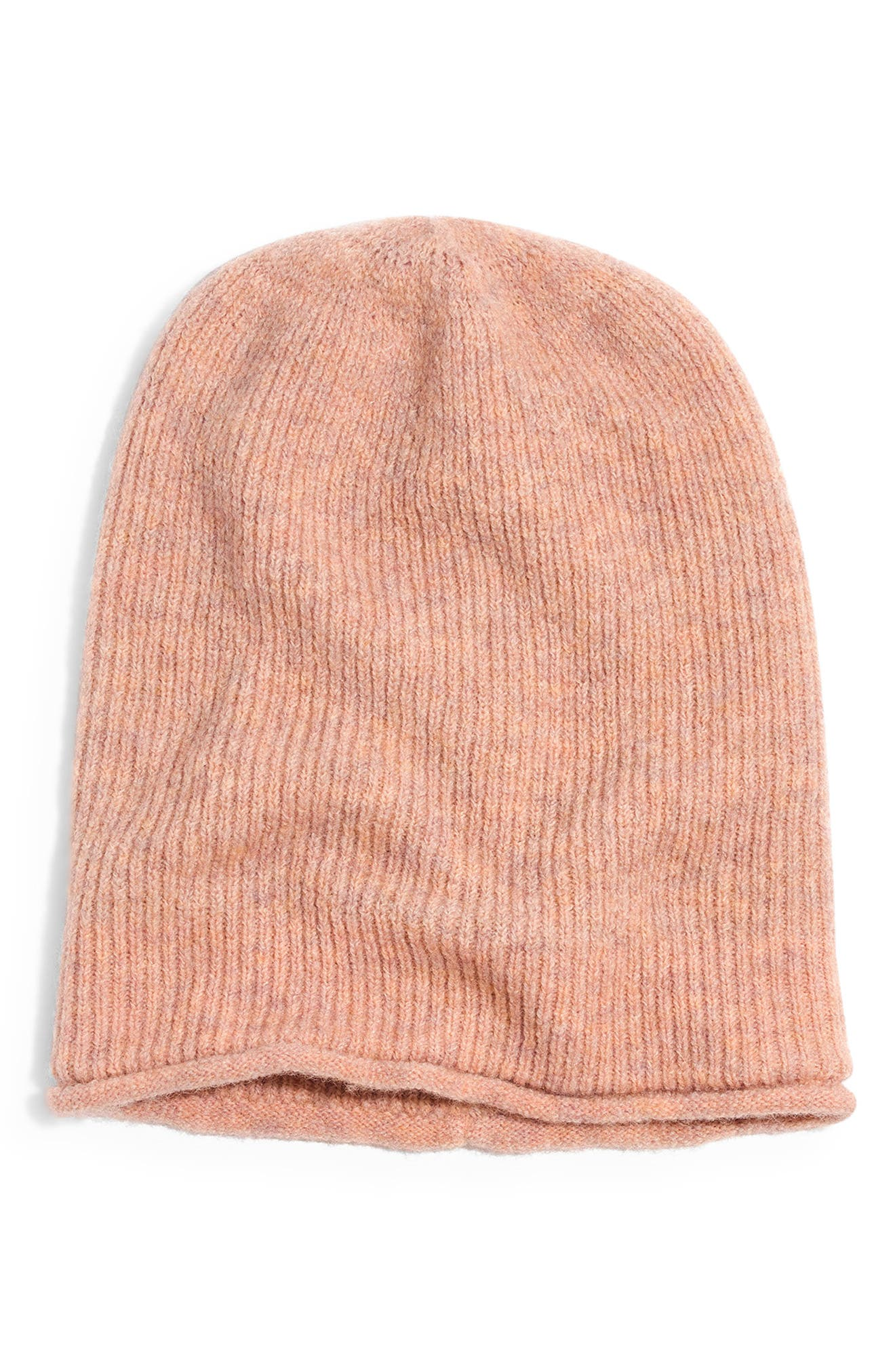 Kent Beanie,                             Main thumbnail 1, color,                             HTHR CARNATION