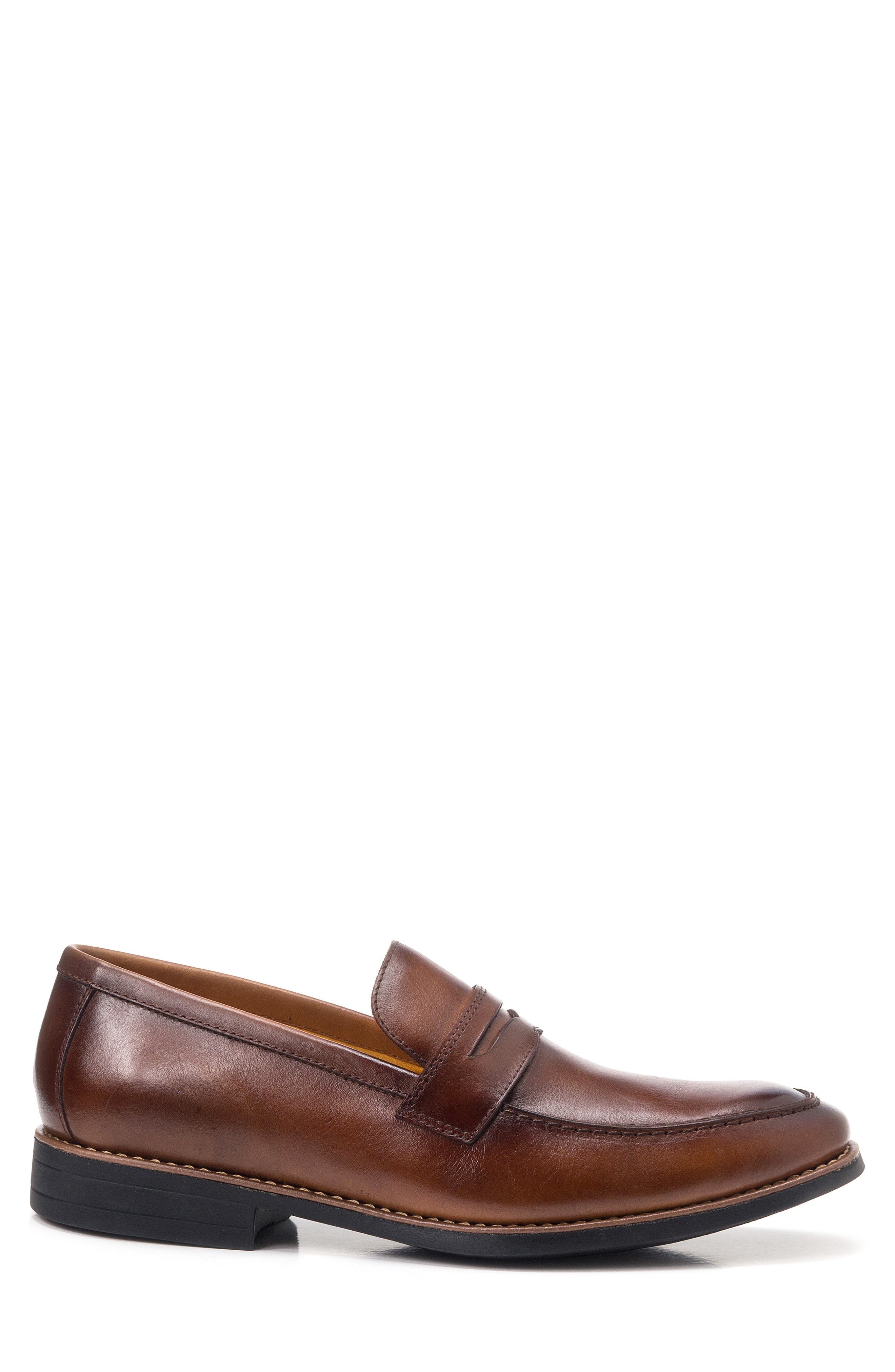 Mundo Penny Loafer,                             Alternate thumbnail 3, color,                             BROWN LEATHER