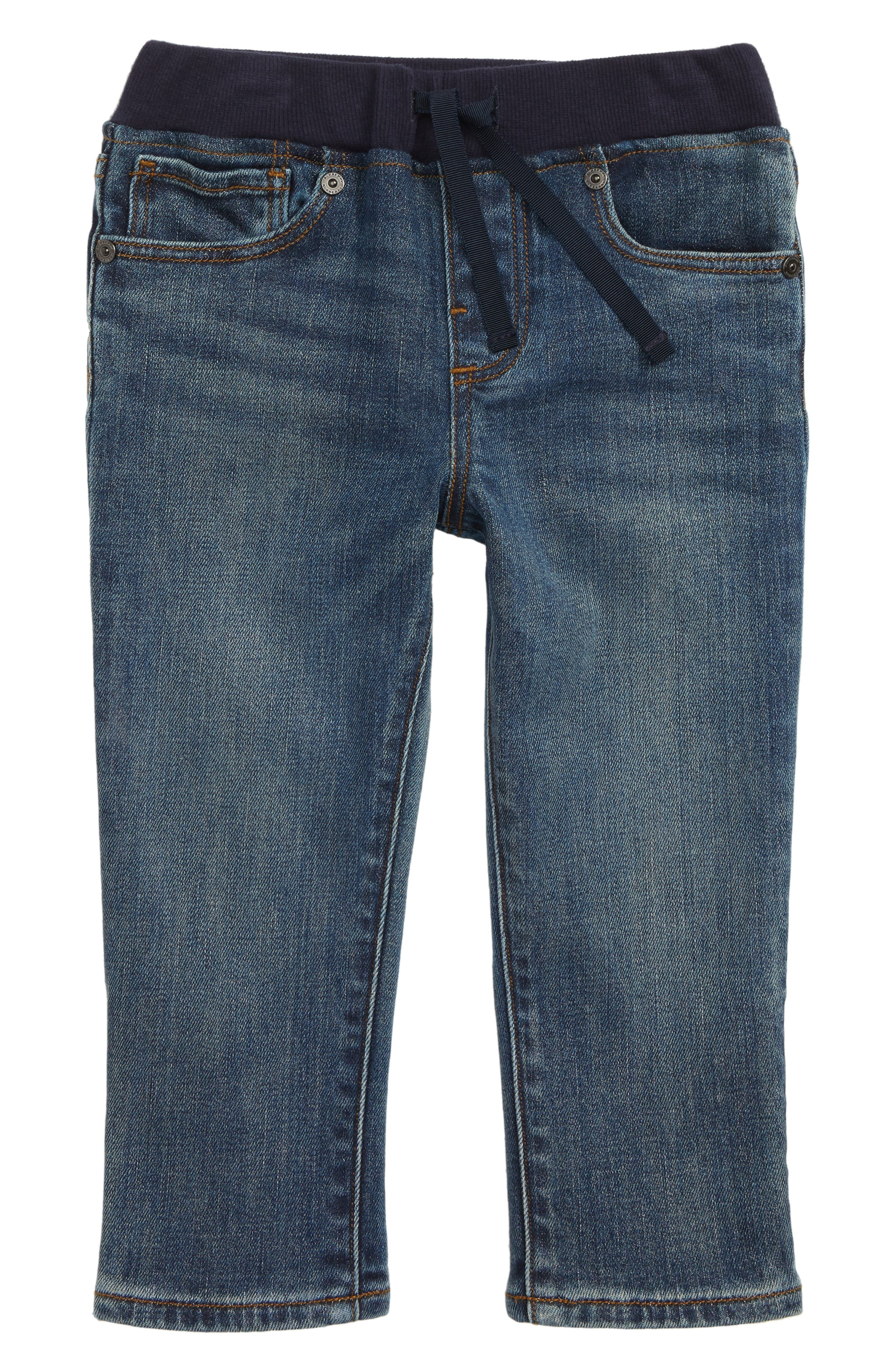 Pull-On Jeans,                         Main,                         color, MID INDIGO