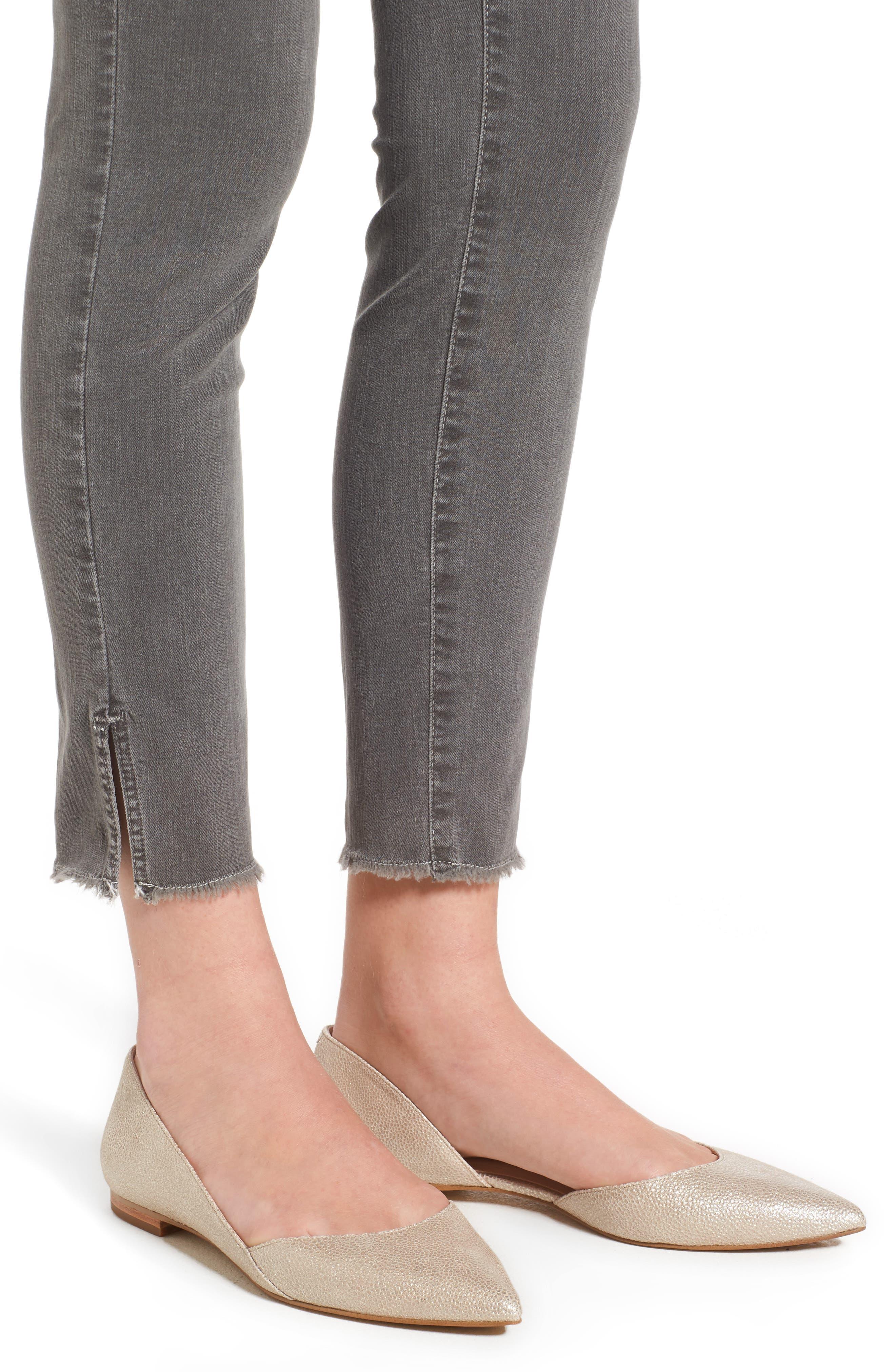 Ami Frayed Hem Stretch Skinny Ankle Jeans,                             Alternate thumbnail 4, color,                             038