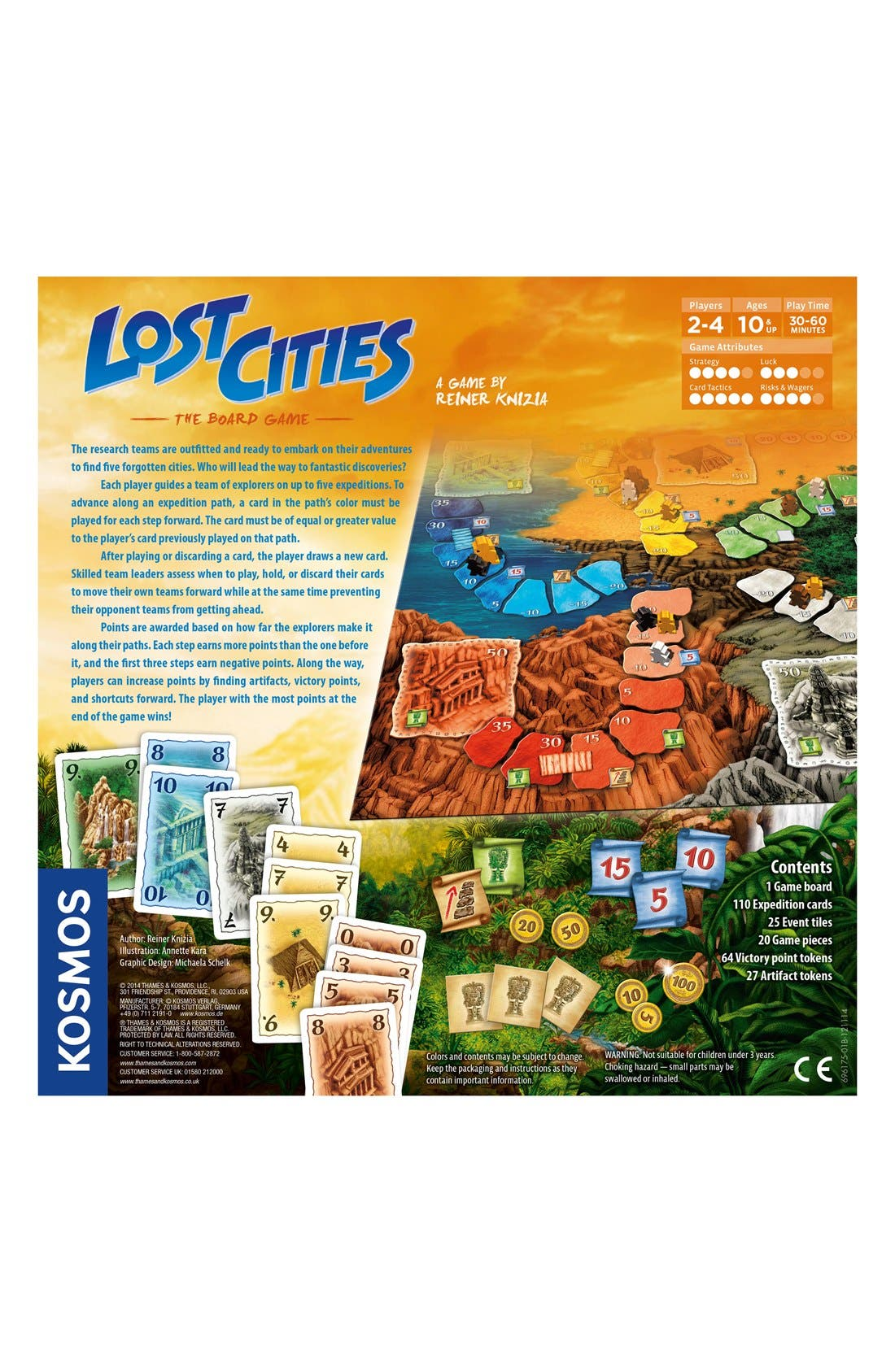 'Lost Cities - The Board Game',                             Alternate thumbnail 2, color,                             ORANGE