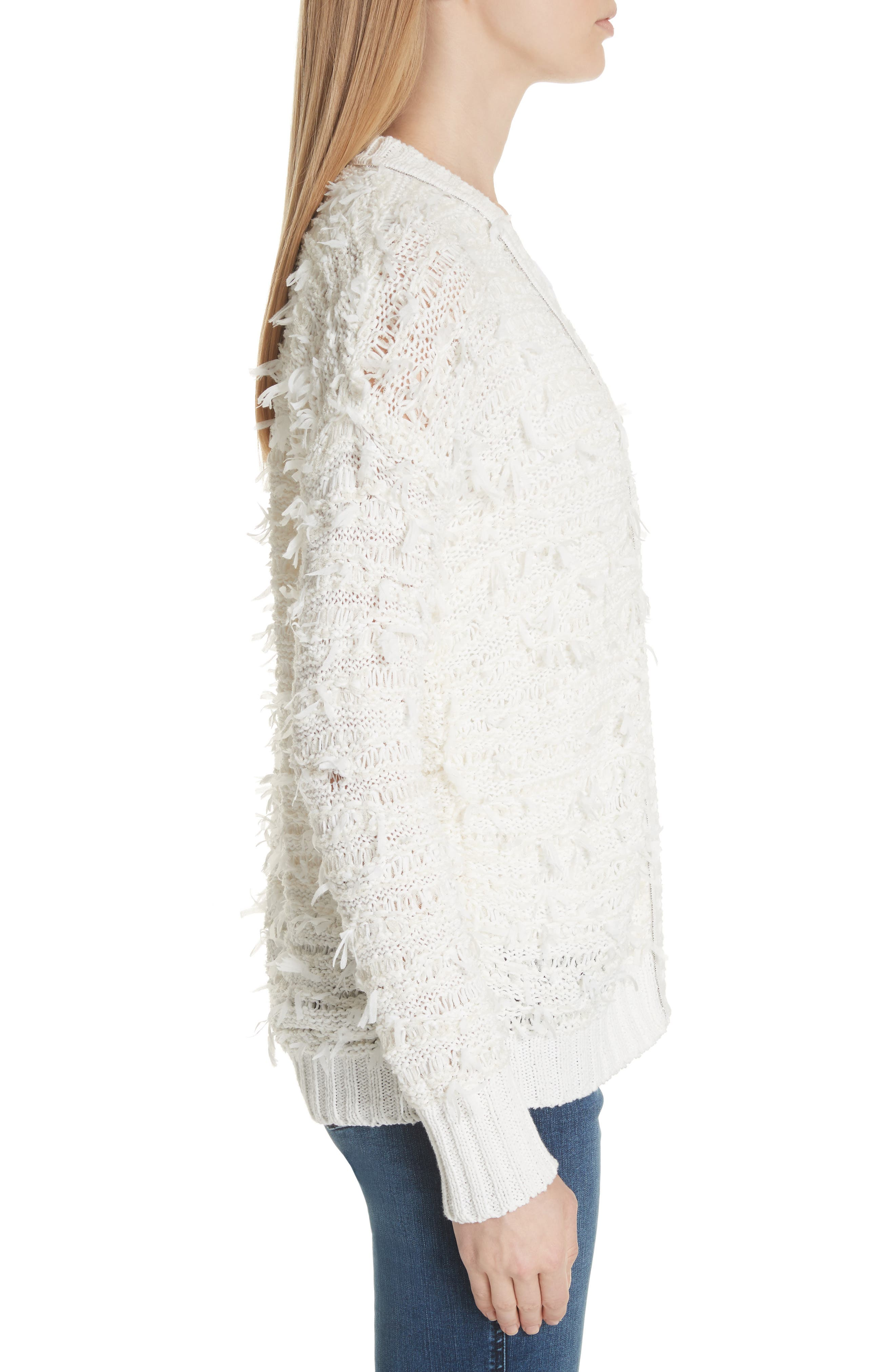 Tufted Knit Cardigan,                             Alternate thumbnail 3, color,                             900