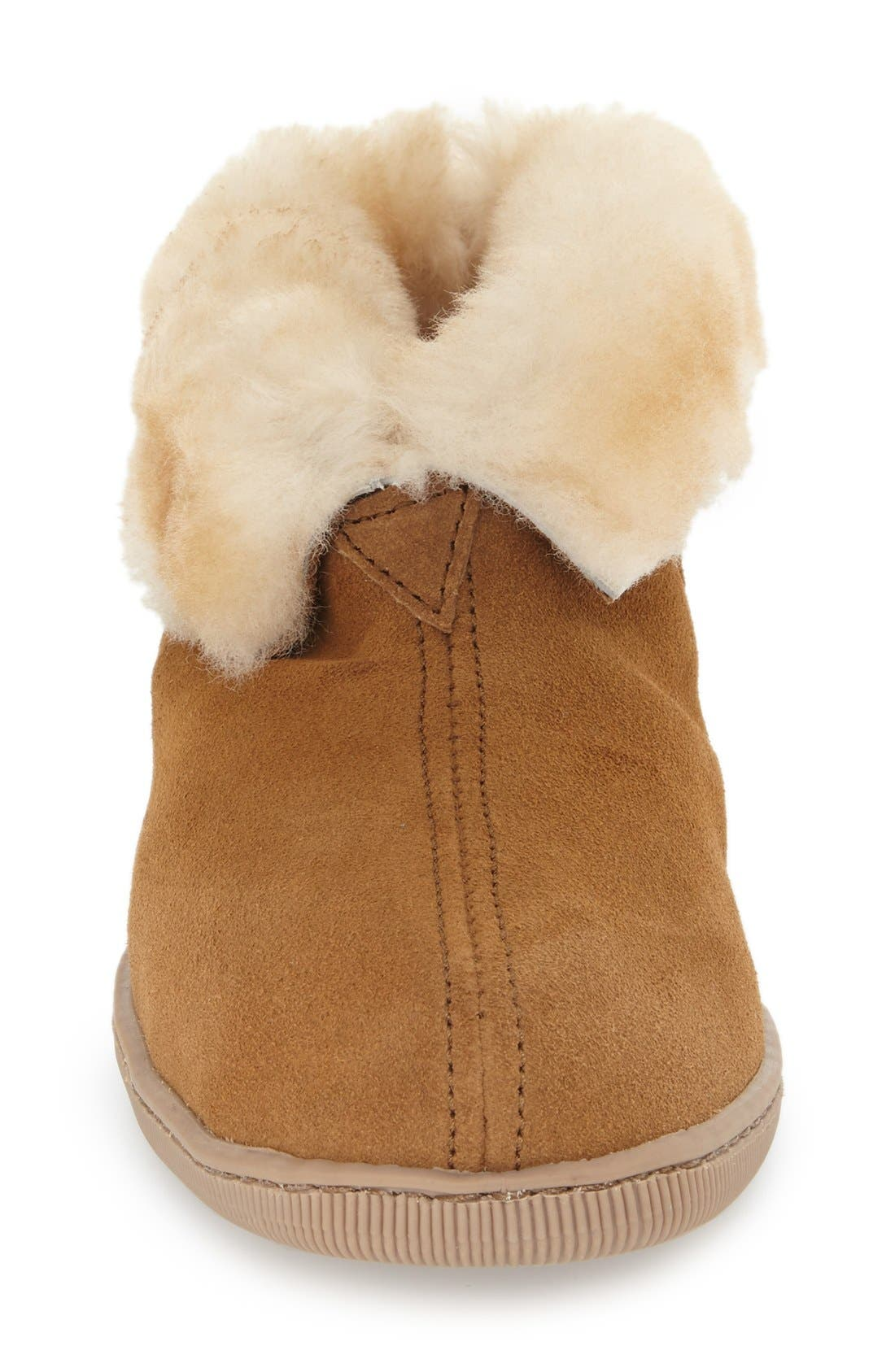 Genuine Shearling Lined Ankle Boot,                             Alternate thumbnail 3, color,                             GOLDEN TAN
