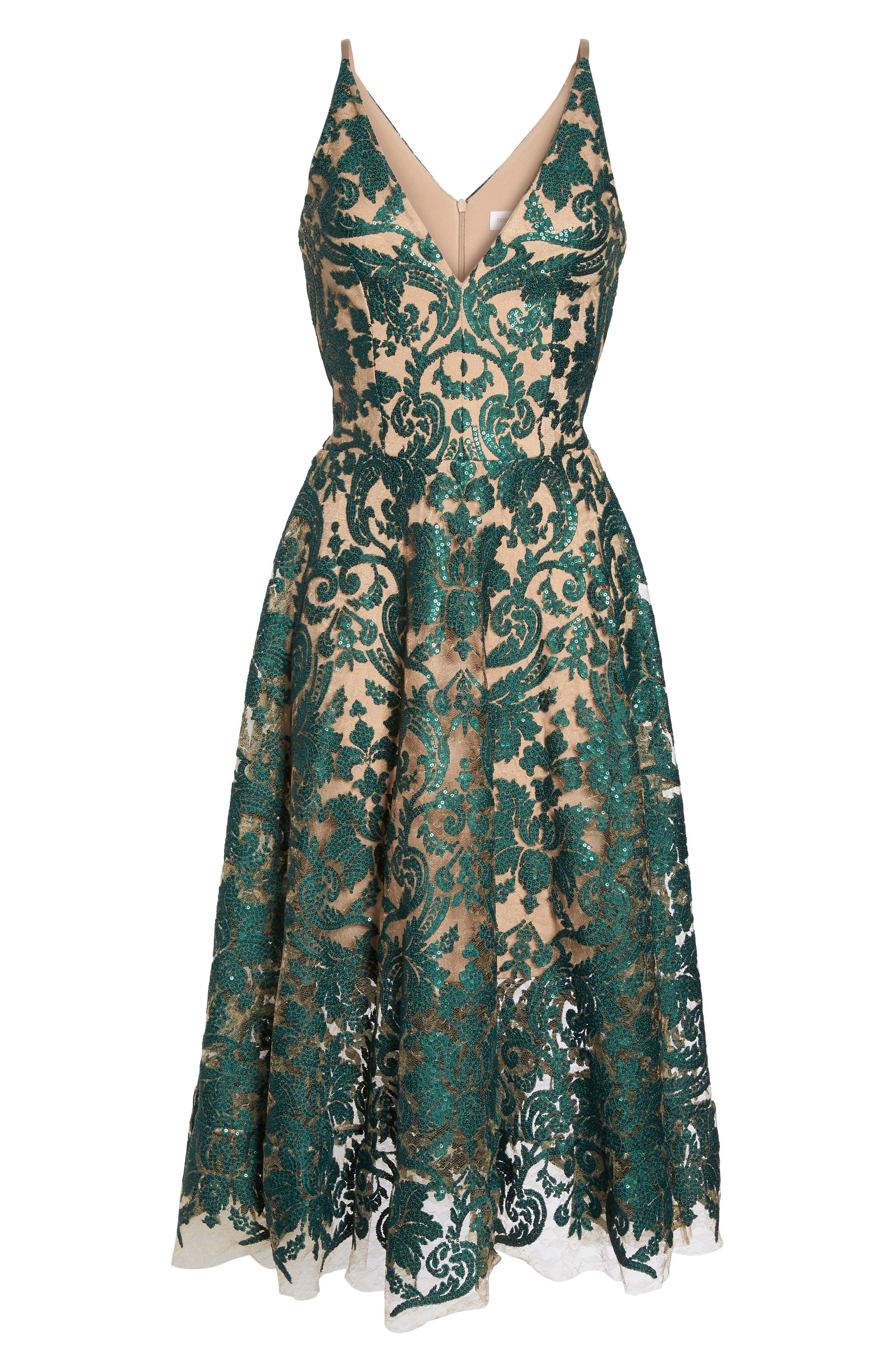 Blair Embellished Fit & Flare Dress,                             Alternate thumbnail 43, color,
