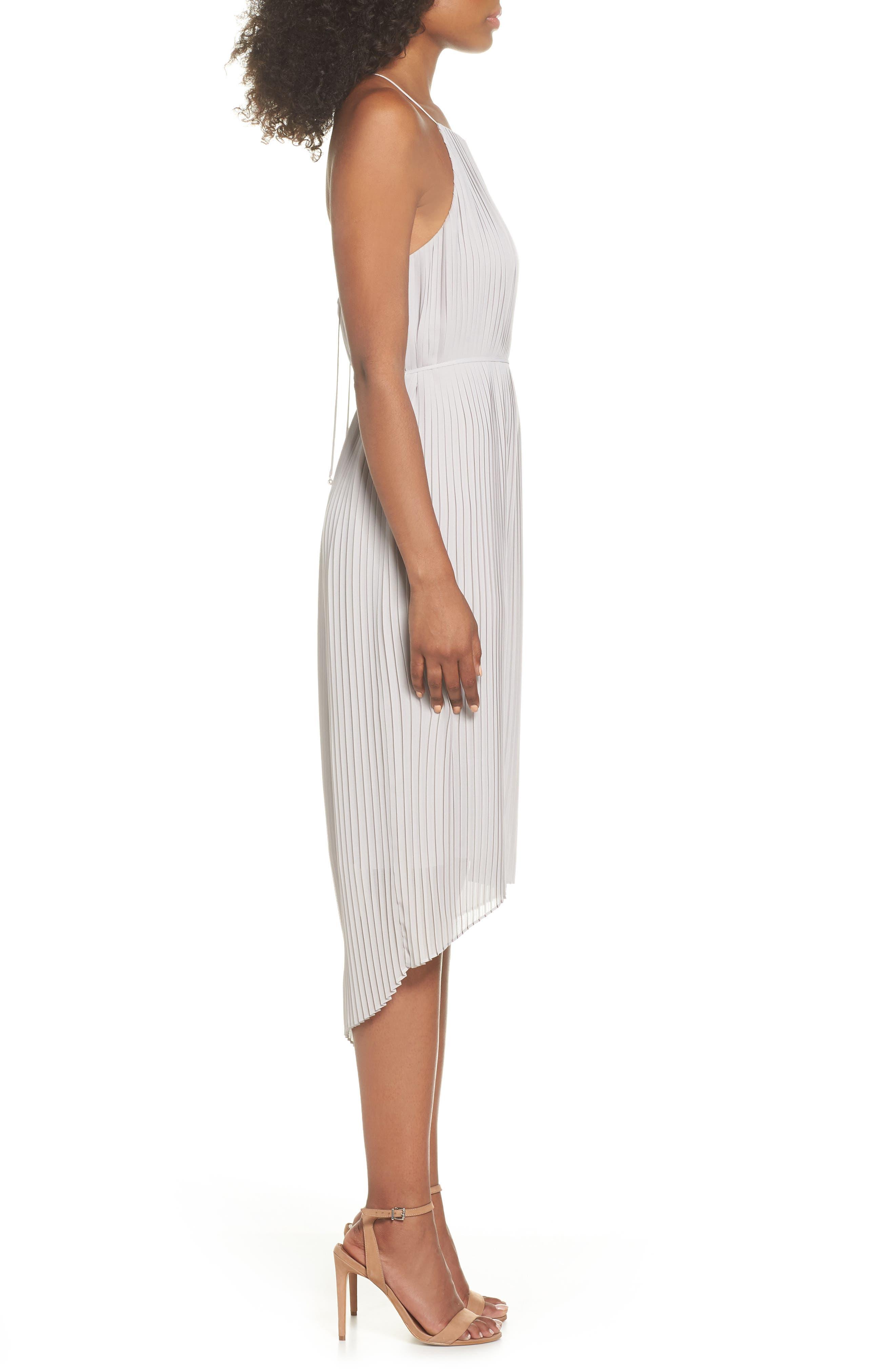 SAM EDELMAN,                             Pleated Midi Dress,                             Alternate thumbnail 3, color,                             077
