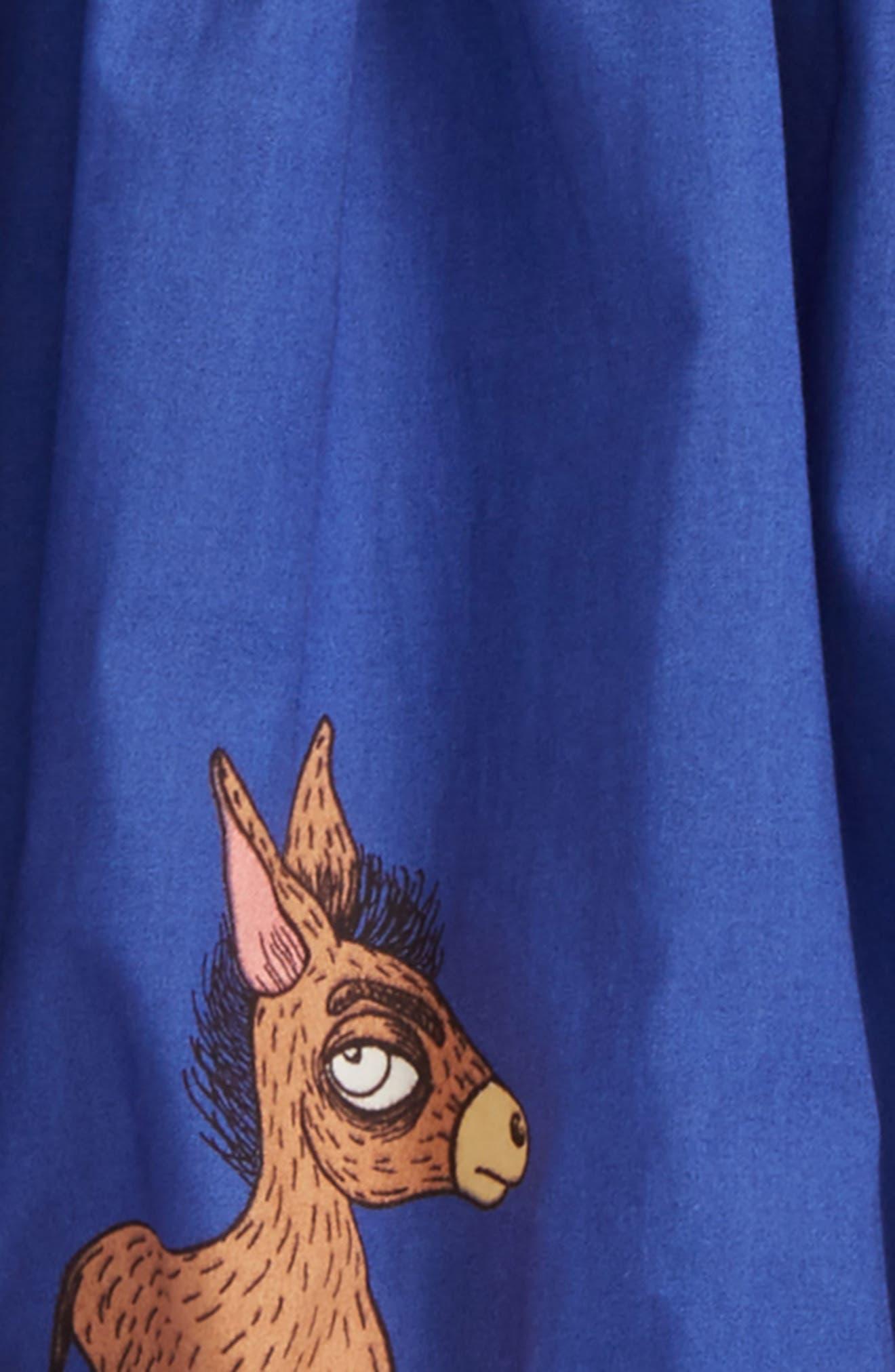 Donkey Print Woven Organic Cotton Balloon Skirt,                             Alternate thumbnail 2, color,                             400