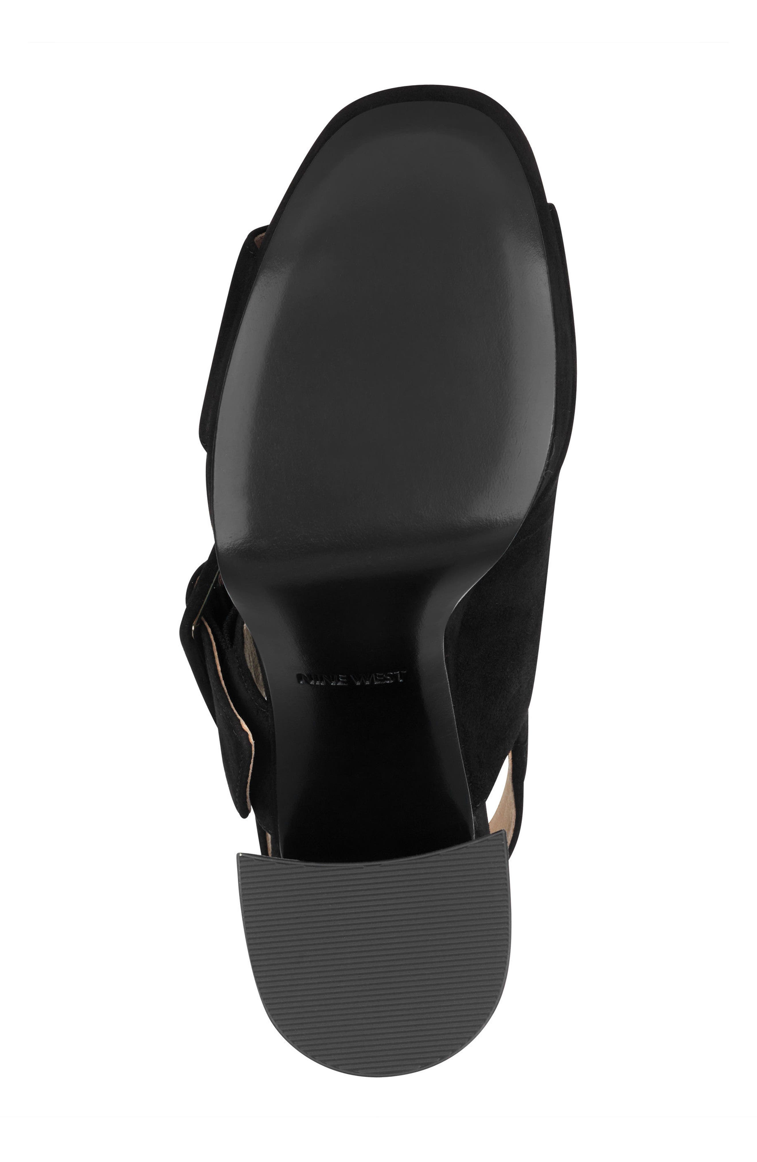 Lexine - 40th Anniversary Capsule Collection Platform Sandal,                             Alternate thumbnail 6, color,                             BLACK LEATHER