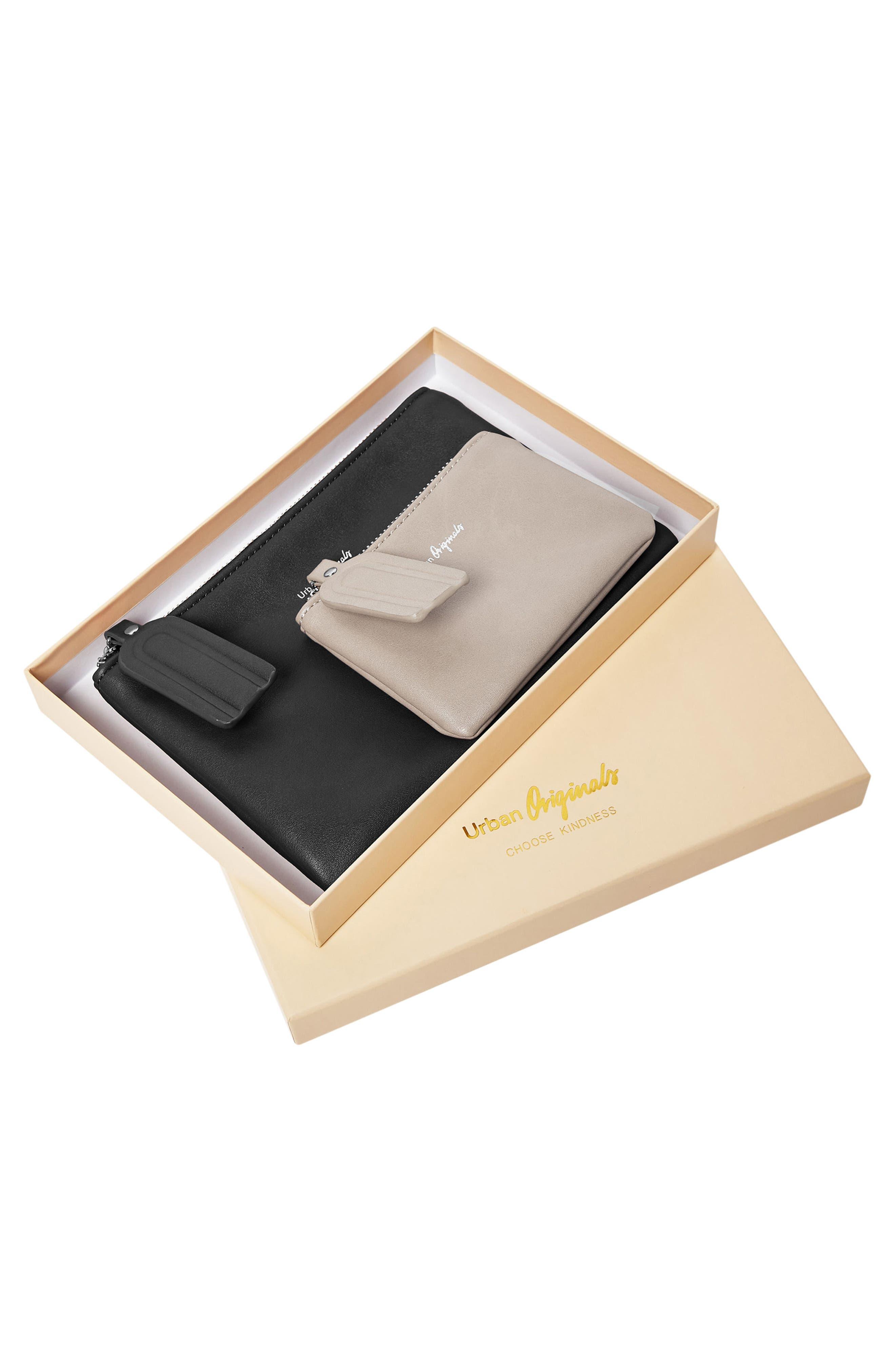 Dreamer 2-Pack Vegan Leather Card Cases,                             Alternate thumbnail 3, color,                             001