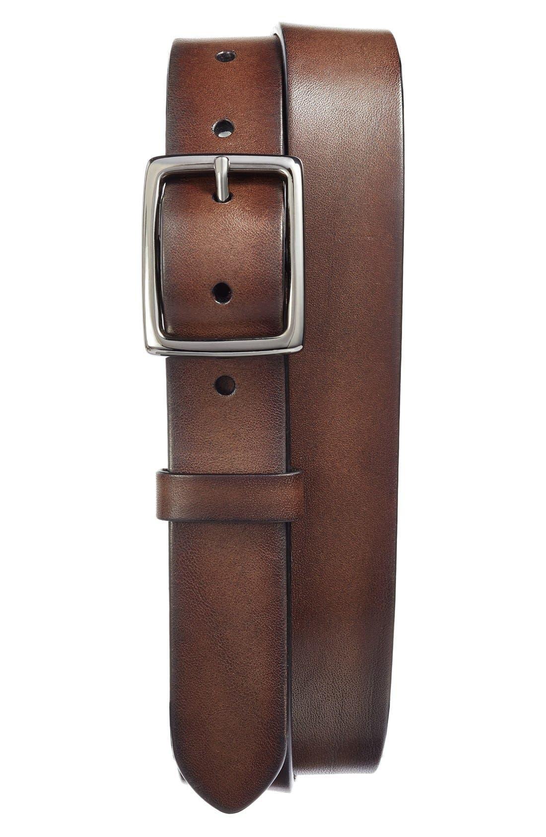 Jet Leather Belt,                             Main thumbnail 2, color,