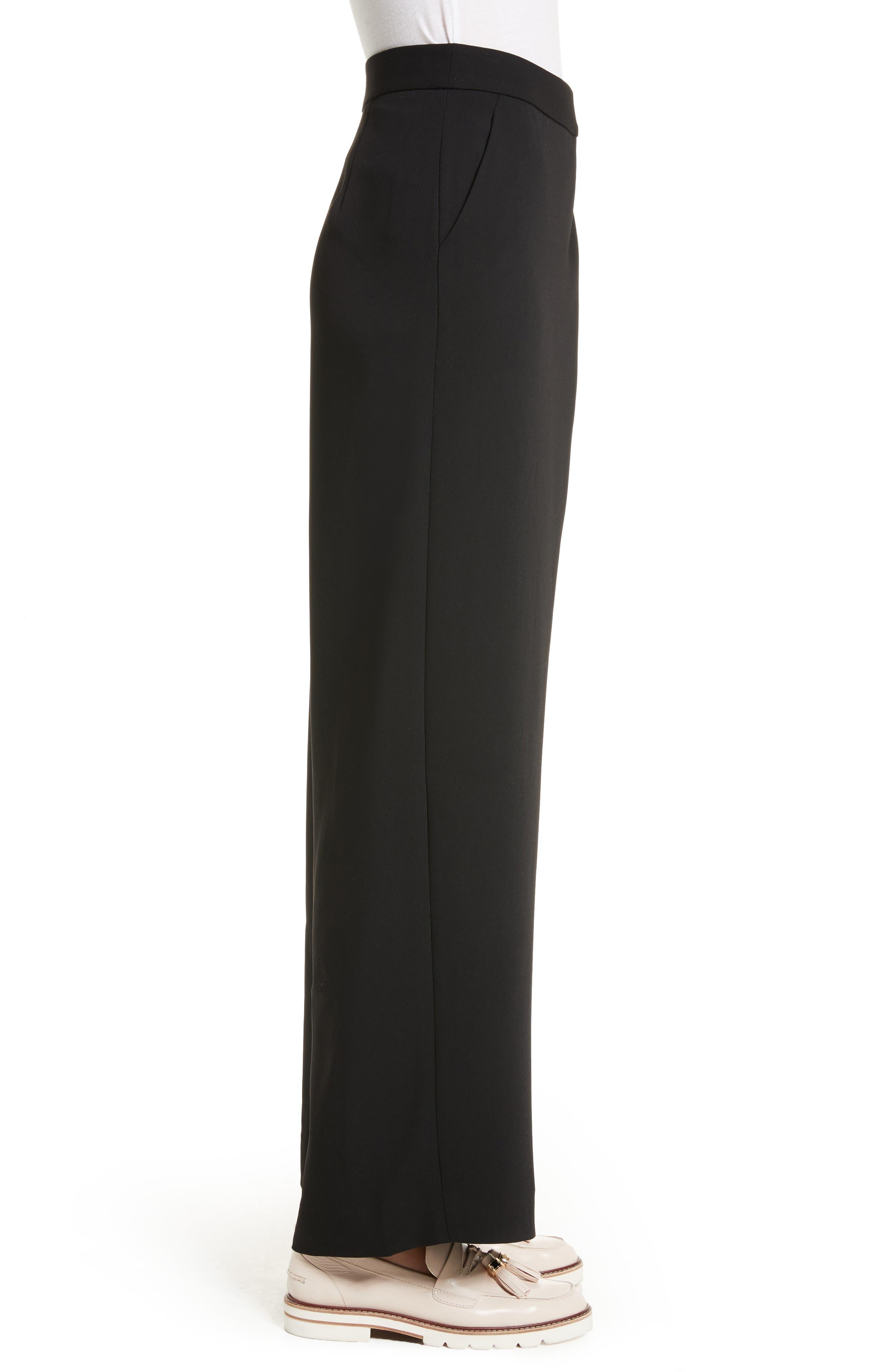 Yasin Wide Leg Wrap Front Trousers,                             Alternate thumbnail 3, color,                             001