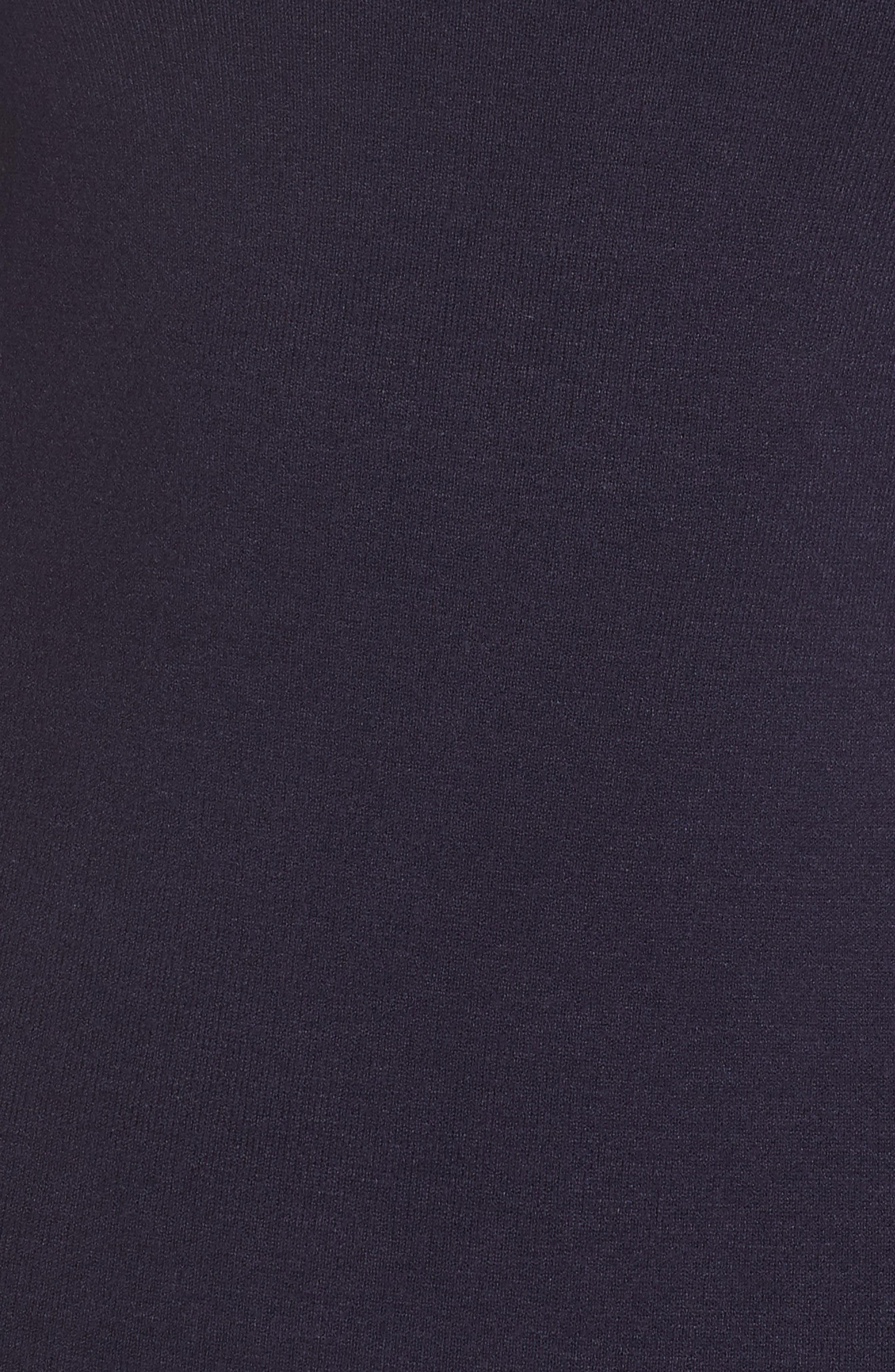 Bell Sleeve Midi Sweater Dress,                             Alternate thumbnail 6, color,                             NAVY