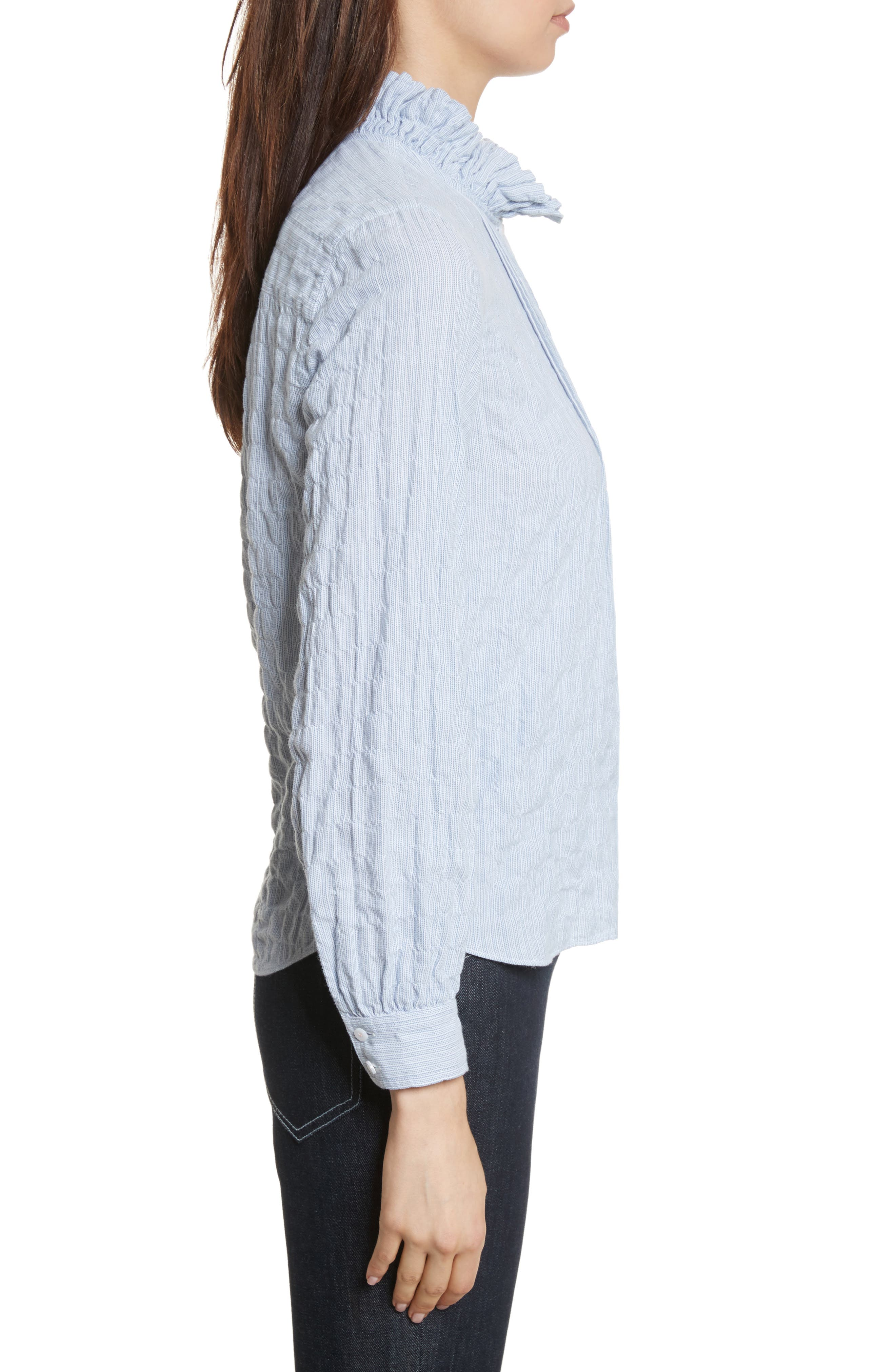 Soft Stripe Quilted Shirt,                             Alternate thumbnail 3, color,