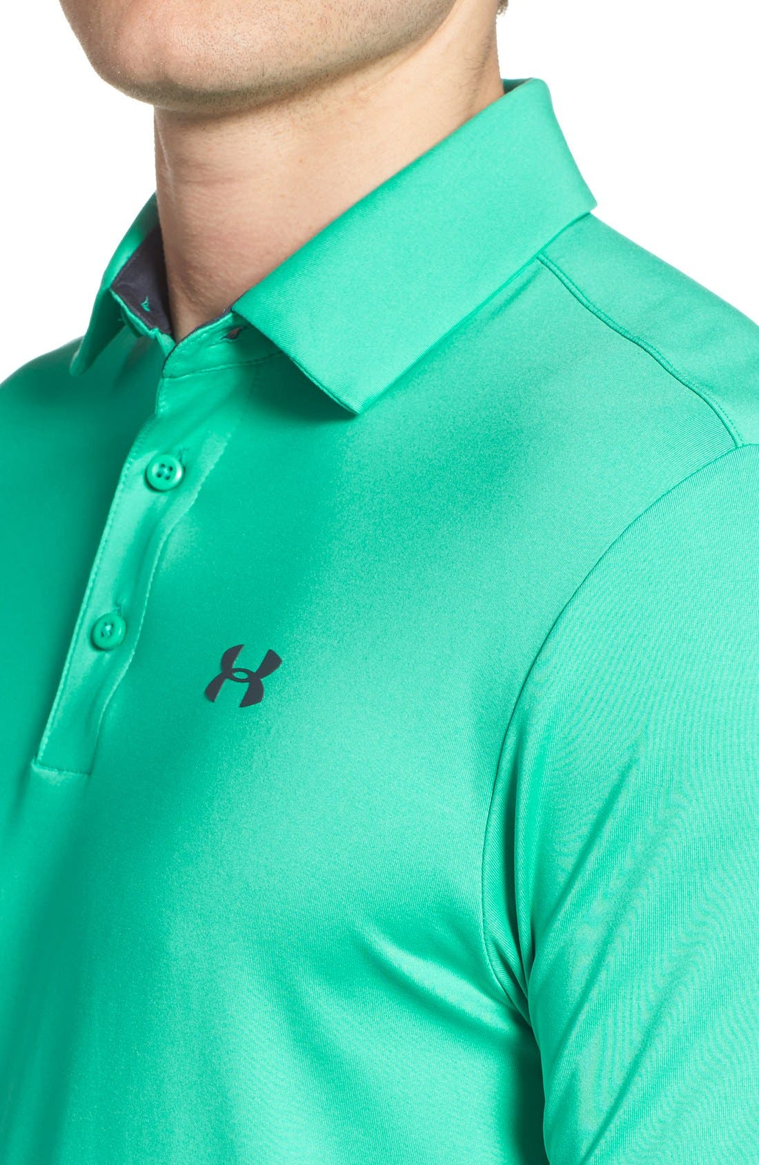 'Playoff' Loose Fit Short Sleeve Polo,                             Alternate thumbnail 195, color,