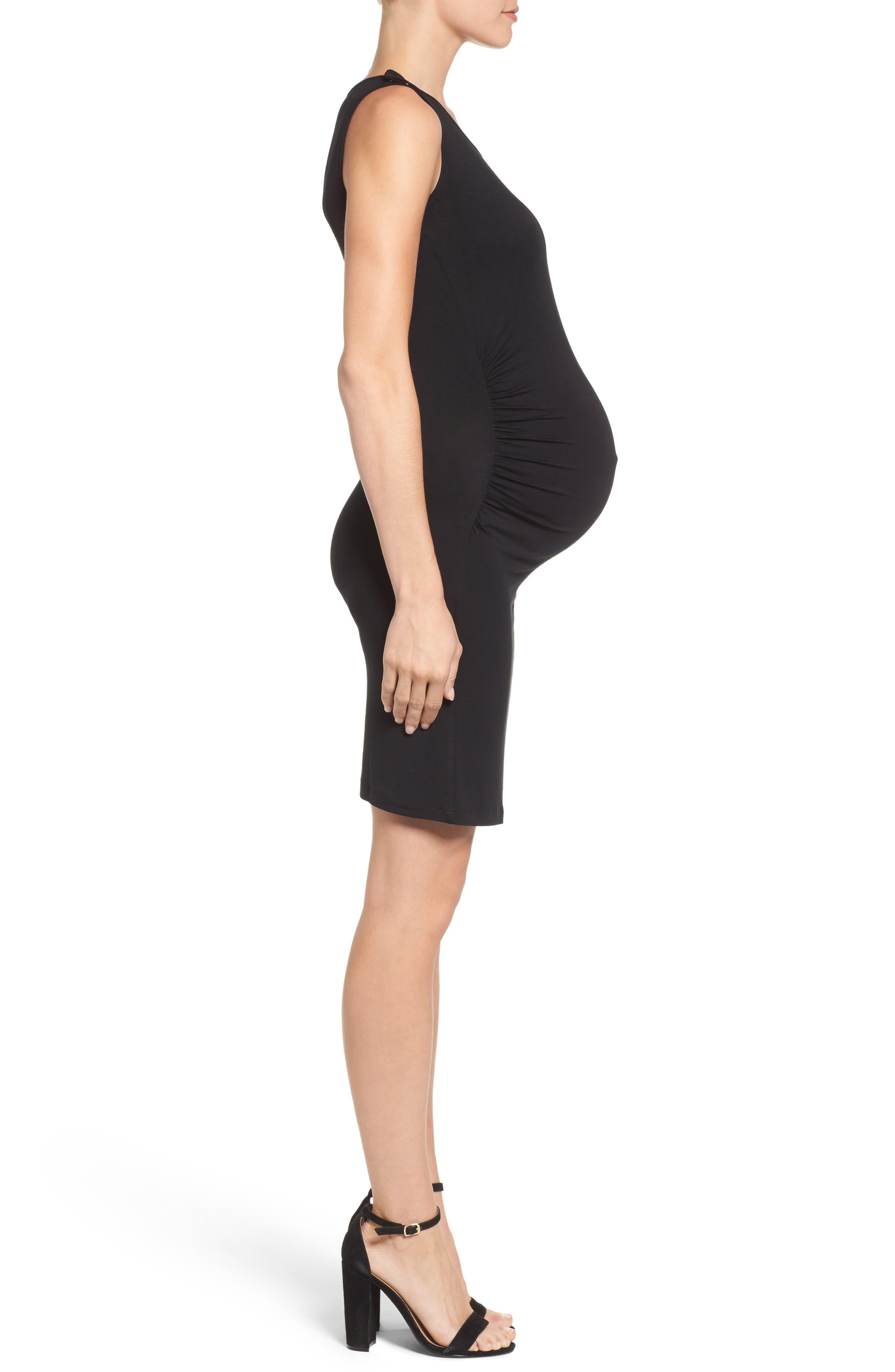 Maternity/Nursing Tank Dress,                             Alternate thumbnail 3, color,                             001