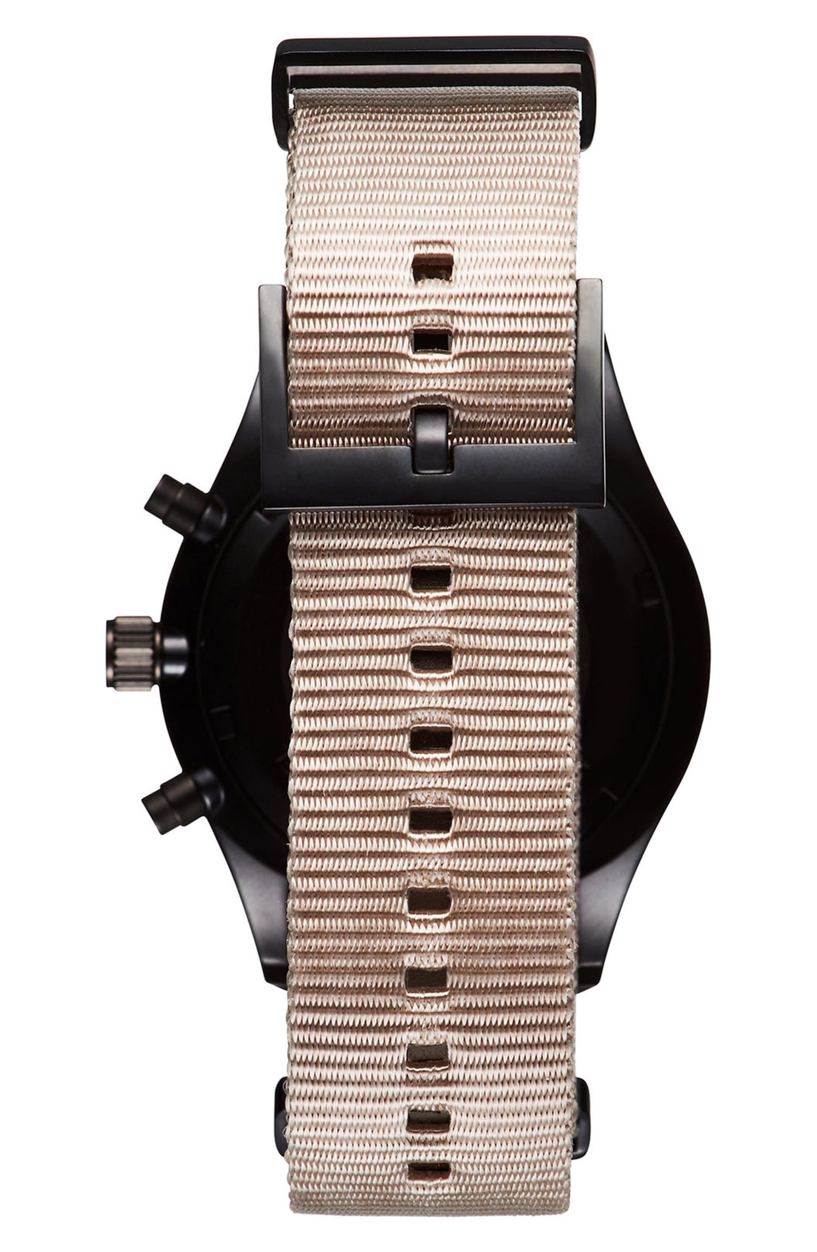 Voyager Chronograph Canvas Strap Watch, 42mm,                             Alternate thumbnail 2, color,                             250