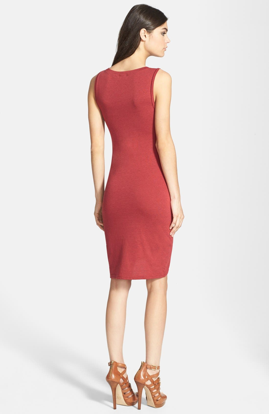 Ruched Body-Con Tank Dress,                             Alternate thumbnail 66, color,