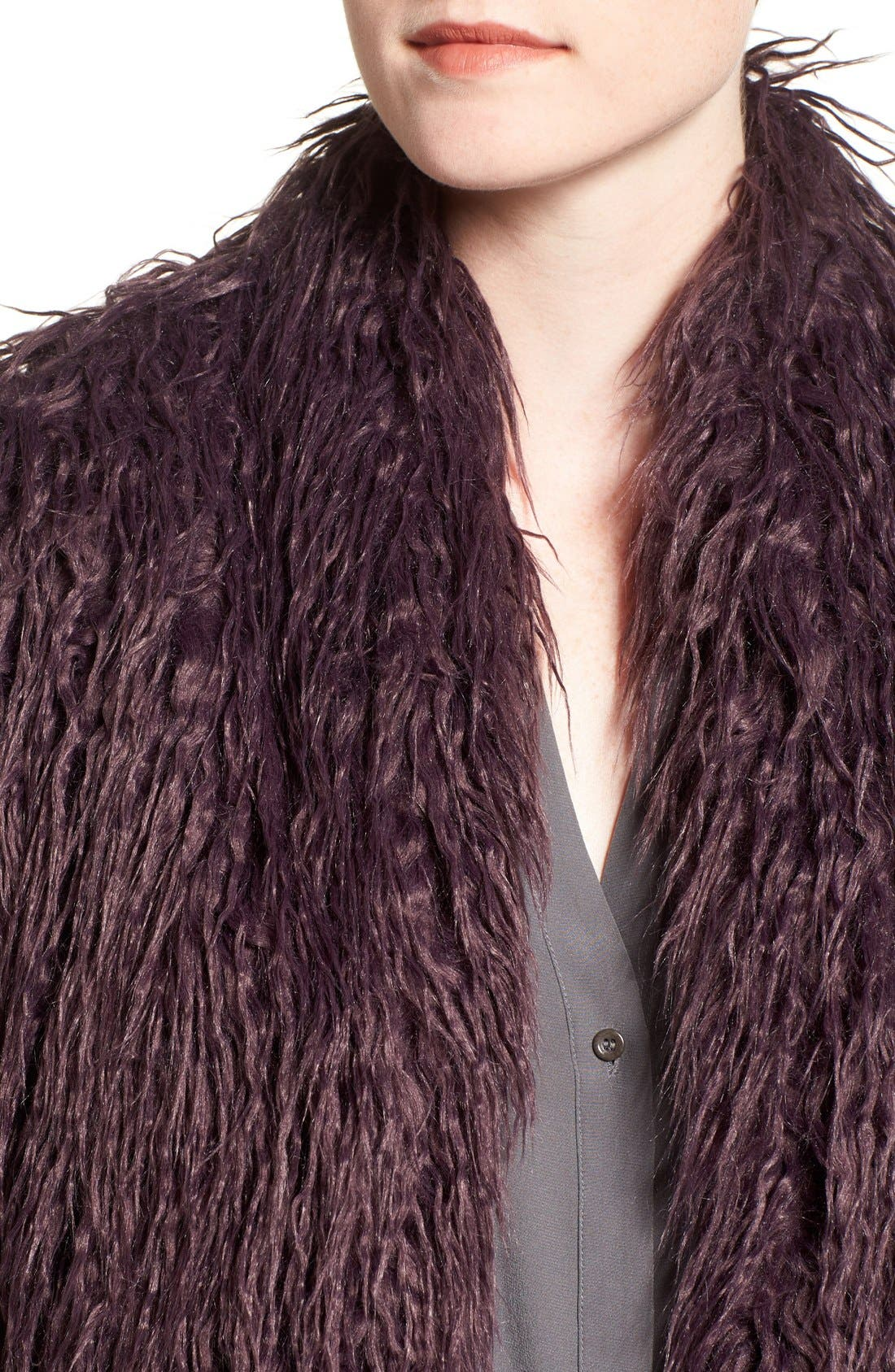 Shaggy Faux Fur Jacket,                             Alternate thumbnail 12, color,
