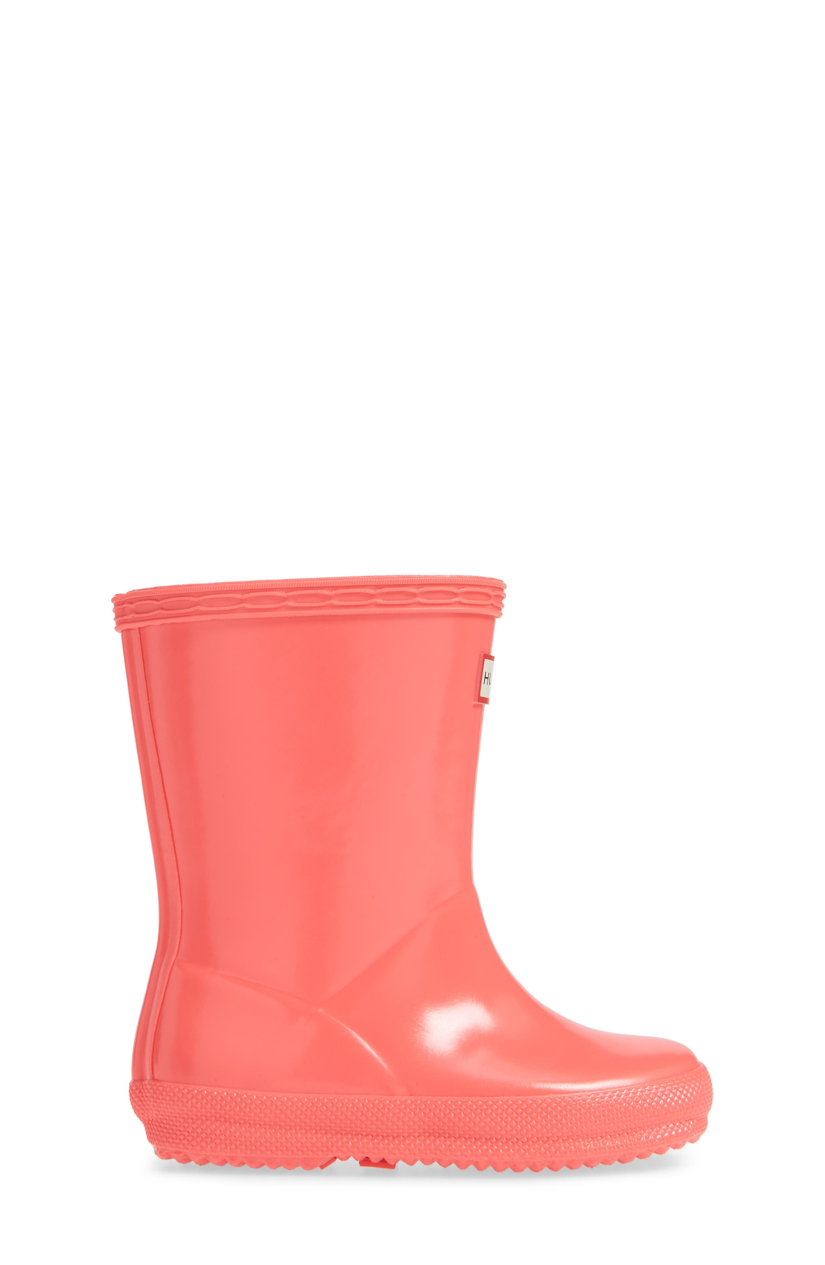 'First Gloss' Rain Boot,                             Alternate thumbnail 3, color,                             HYPER PINK