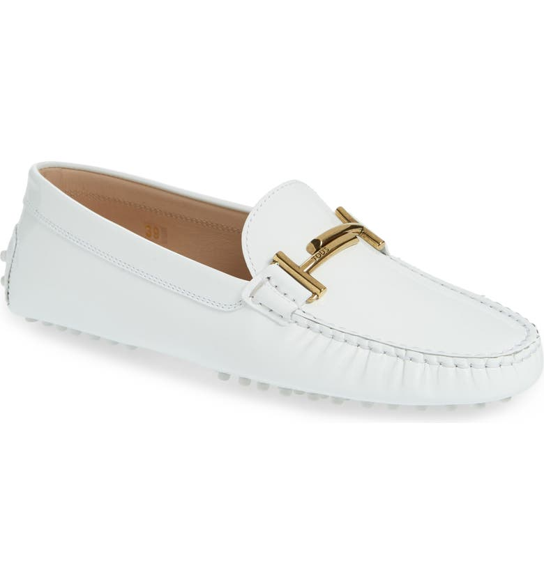 05ce4b346fc Tod S Gommini Double T Loafer In White Patent
