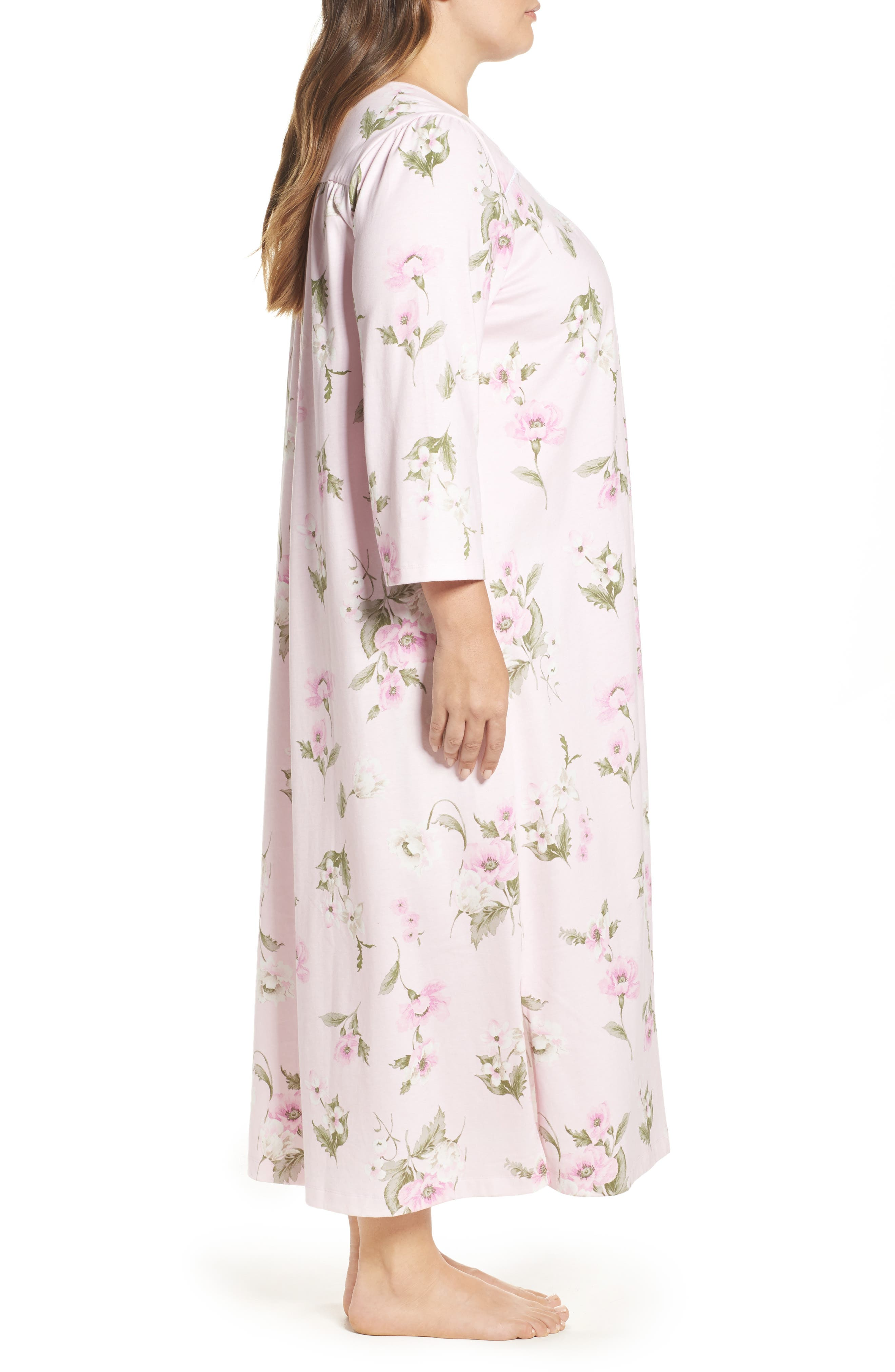 Knit Nightgown,                             Alternate thumbnail 3, color,                             650