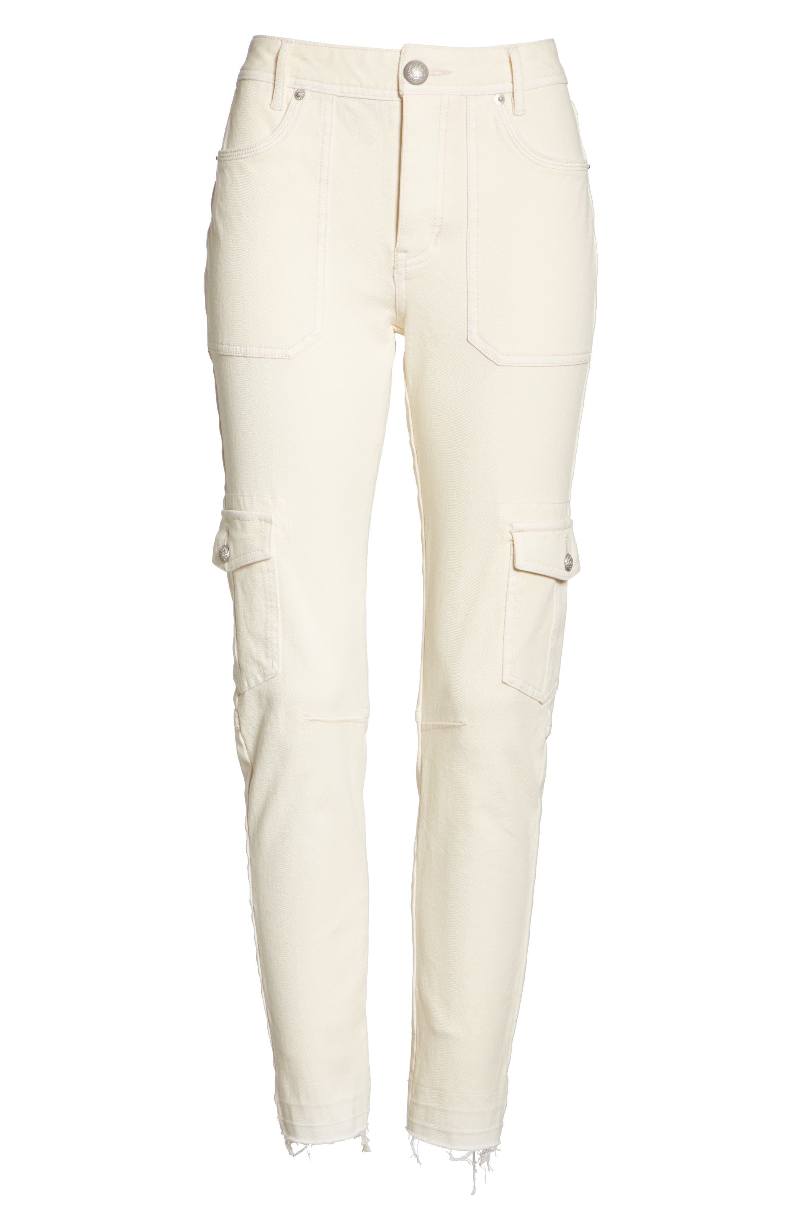 FREE PEOPLE,                             Utility Skinny Jeans,                             Alternate thumbnail 6, color,                             252
