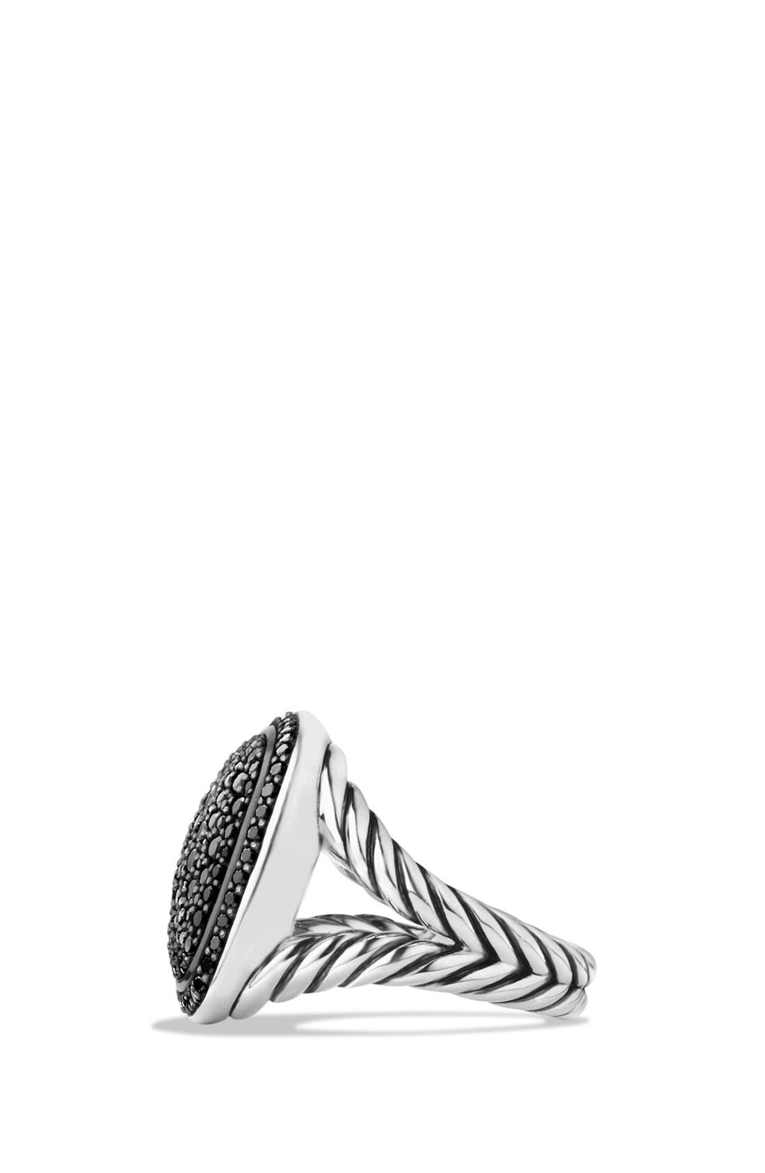 'Albion' Ring with Diamonds,                             Alternate thumbnail 3, color,                             BLACK DIAMOND