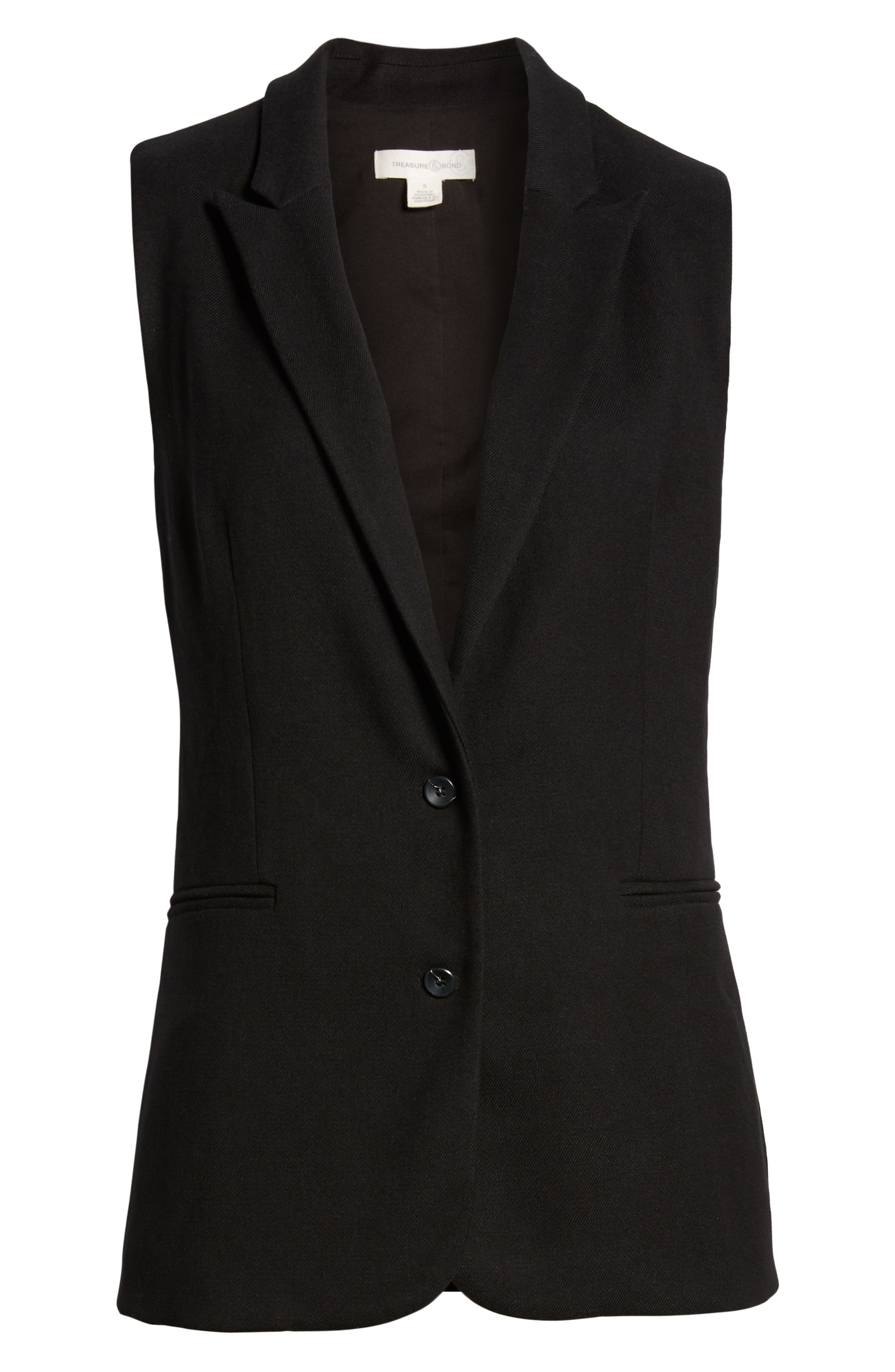 Menswear Vest,                             Alternate thumbnail 6, color,                             BLACK