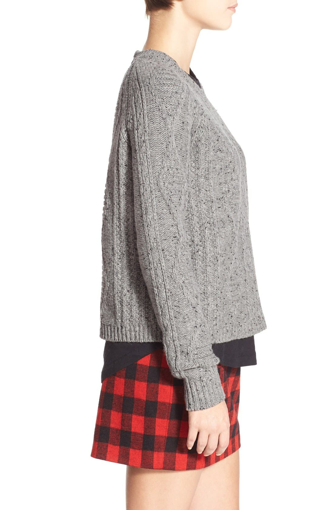 MADEWELL,                             'Palisade' Back Zip Sweater,                             Alternate thumbnail 3, color,                             020
