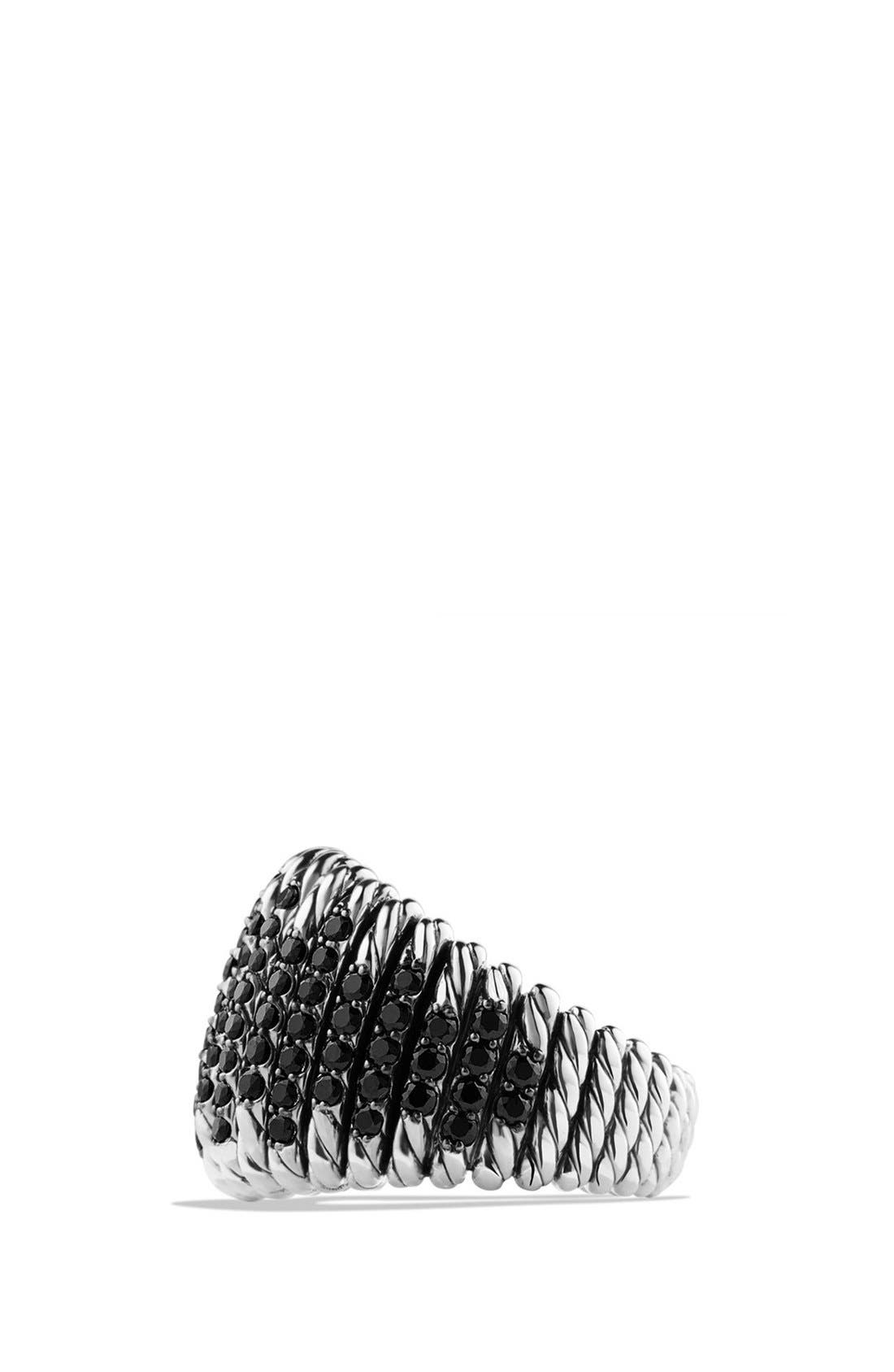 DAVID YURMAN,                             'Tempo' Ring with Spinel,                             Alternate thumbnail 2, color,                             BLACK SPINEL