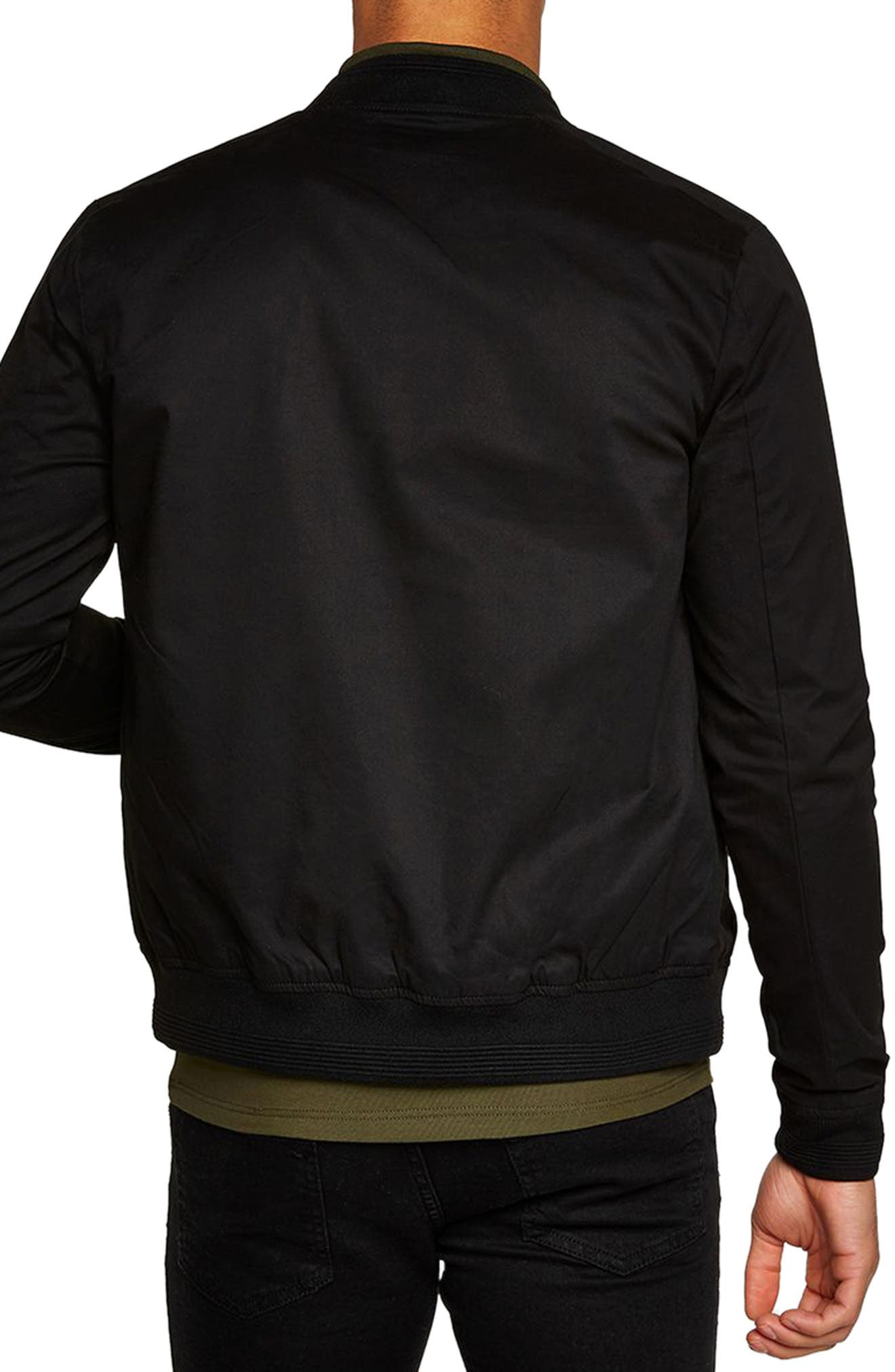 Muscle Fit Bomber Jacket,                             Alternate thumbnail 2, color,                             001