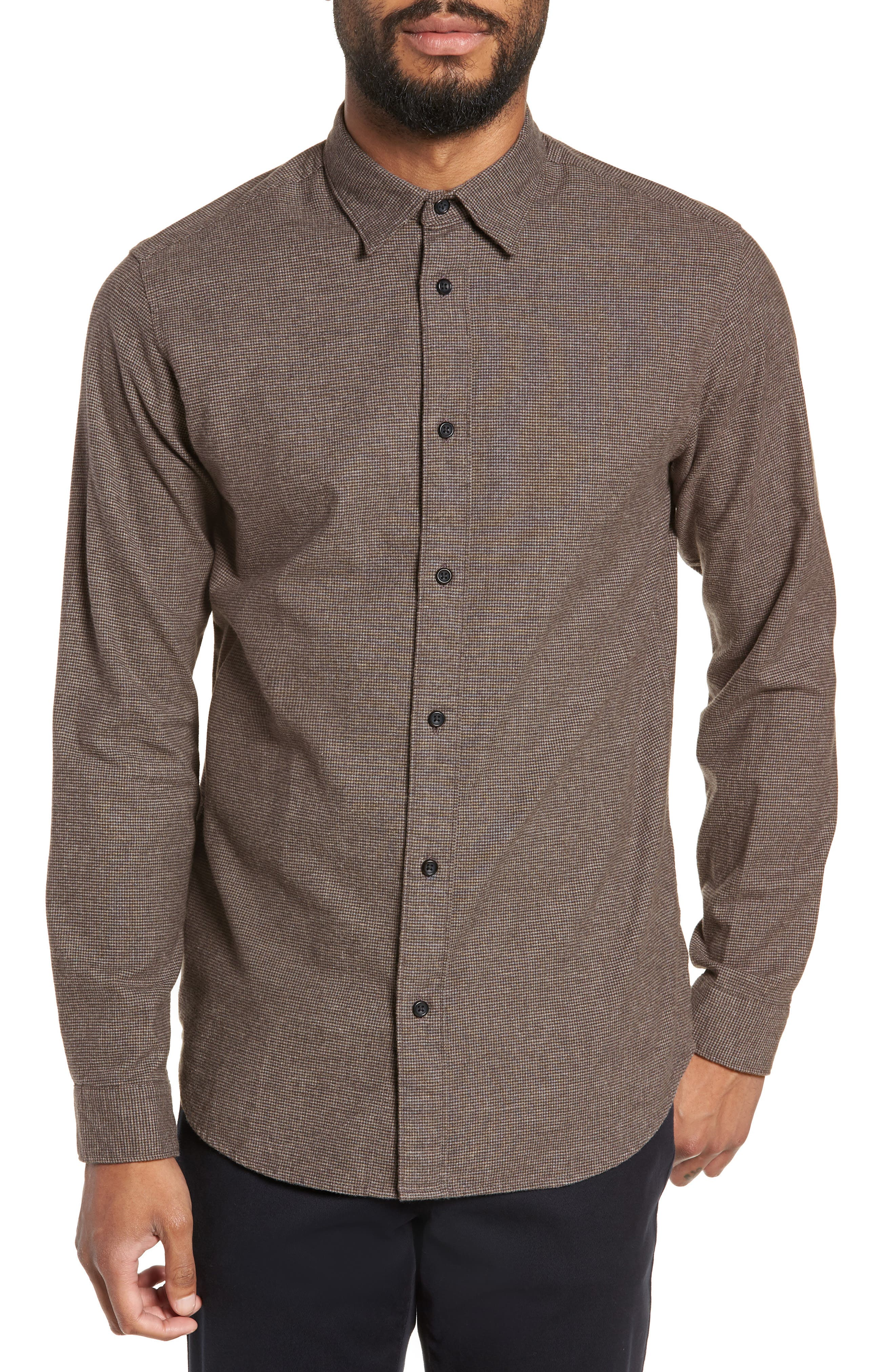 Lucas Houndstooth Check Sport Shirt,                             Main thumbnail 1, color,                             HOUNDSTOOTH