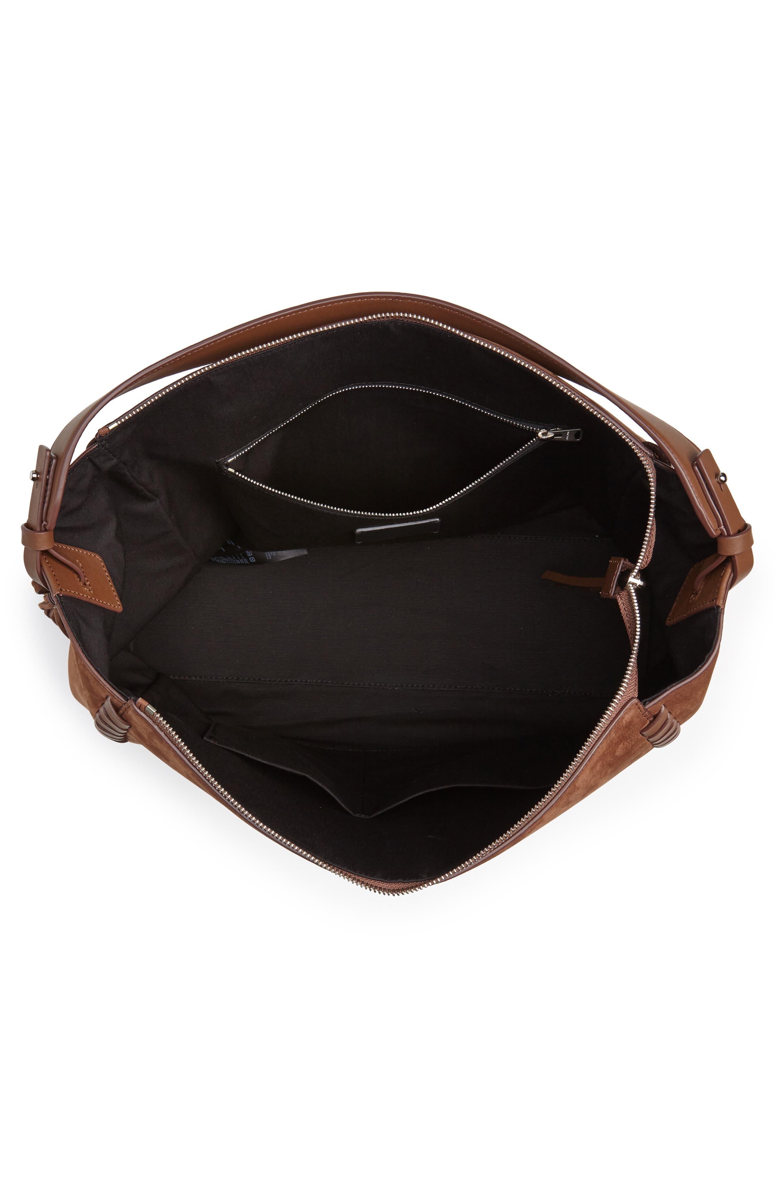 Kepi East/West Leather Shoulder Bag,                             Alternate thumbnail 4, color,                             210