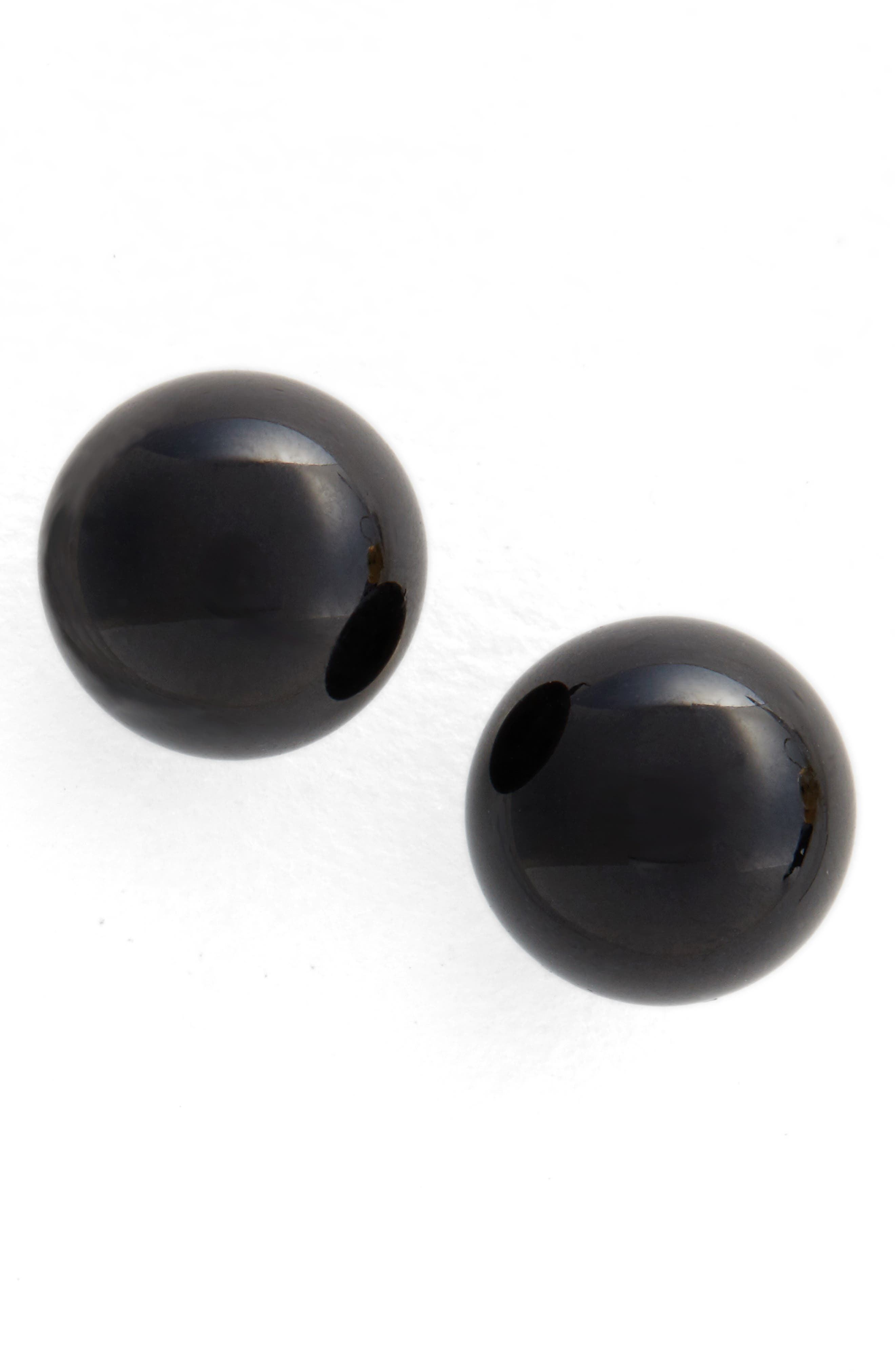 Onyx Sphere Stud Earrings,                             Main thumbnail 1, color,                             041