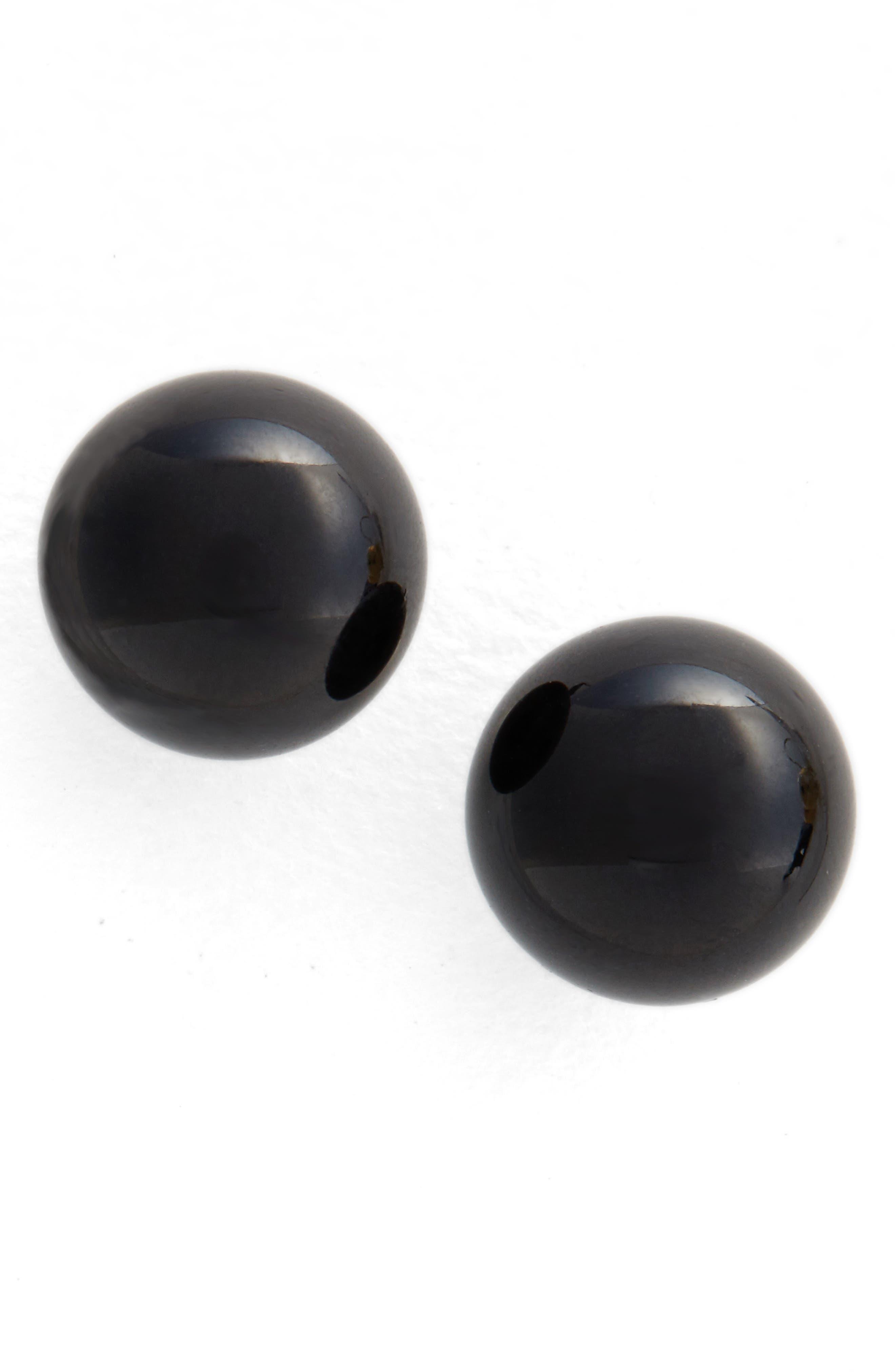 Onyx Sphere Stud Earrings,                         Main,                         color, 041