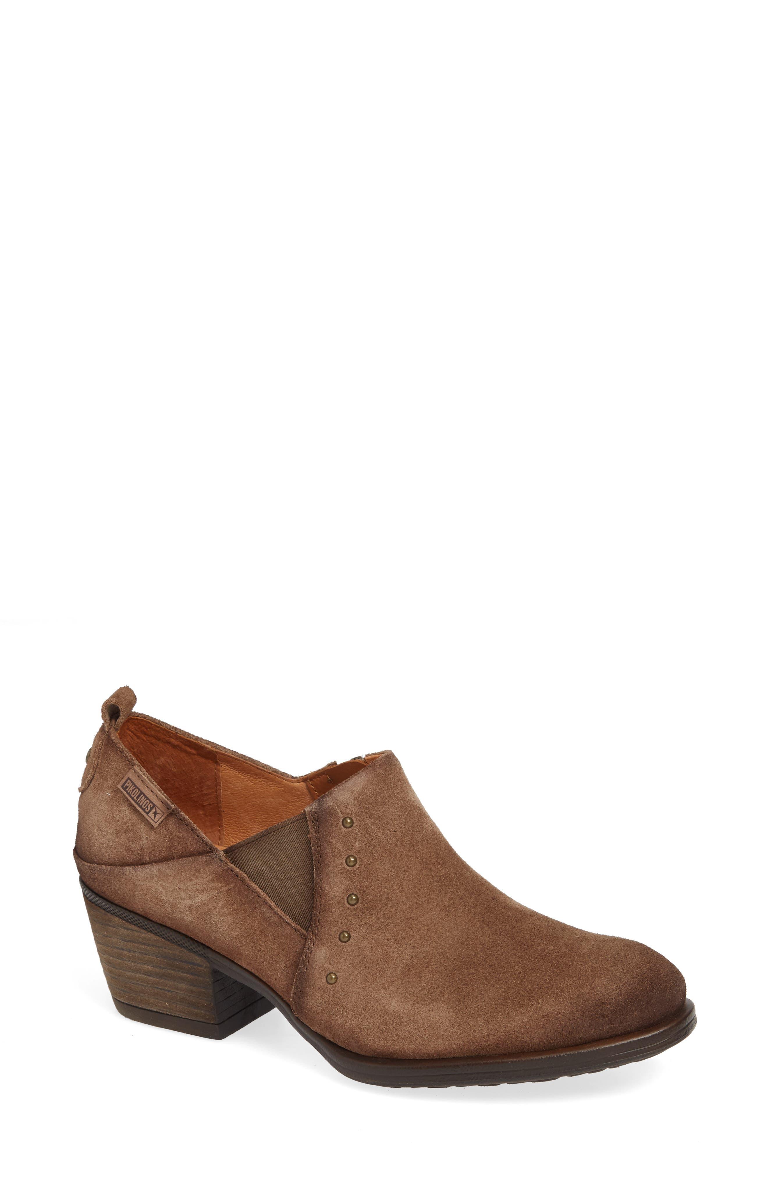 Baquiera Ankle Bootie,                         Main,                         color, STONE SUEDE