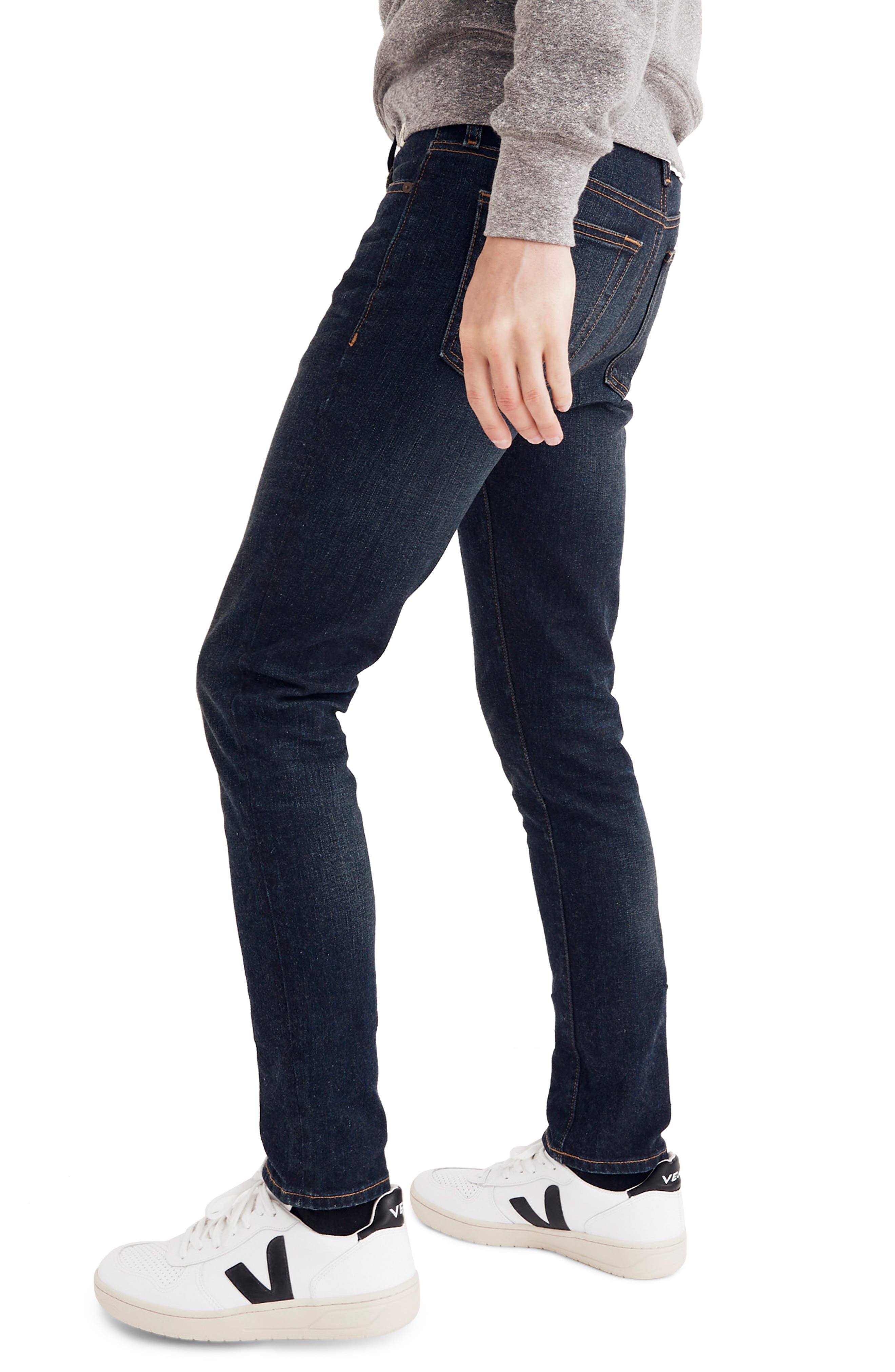 Skinny Fit Jeans,                             Alternate thumbnail 3, color,                             HENEY