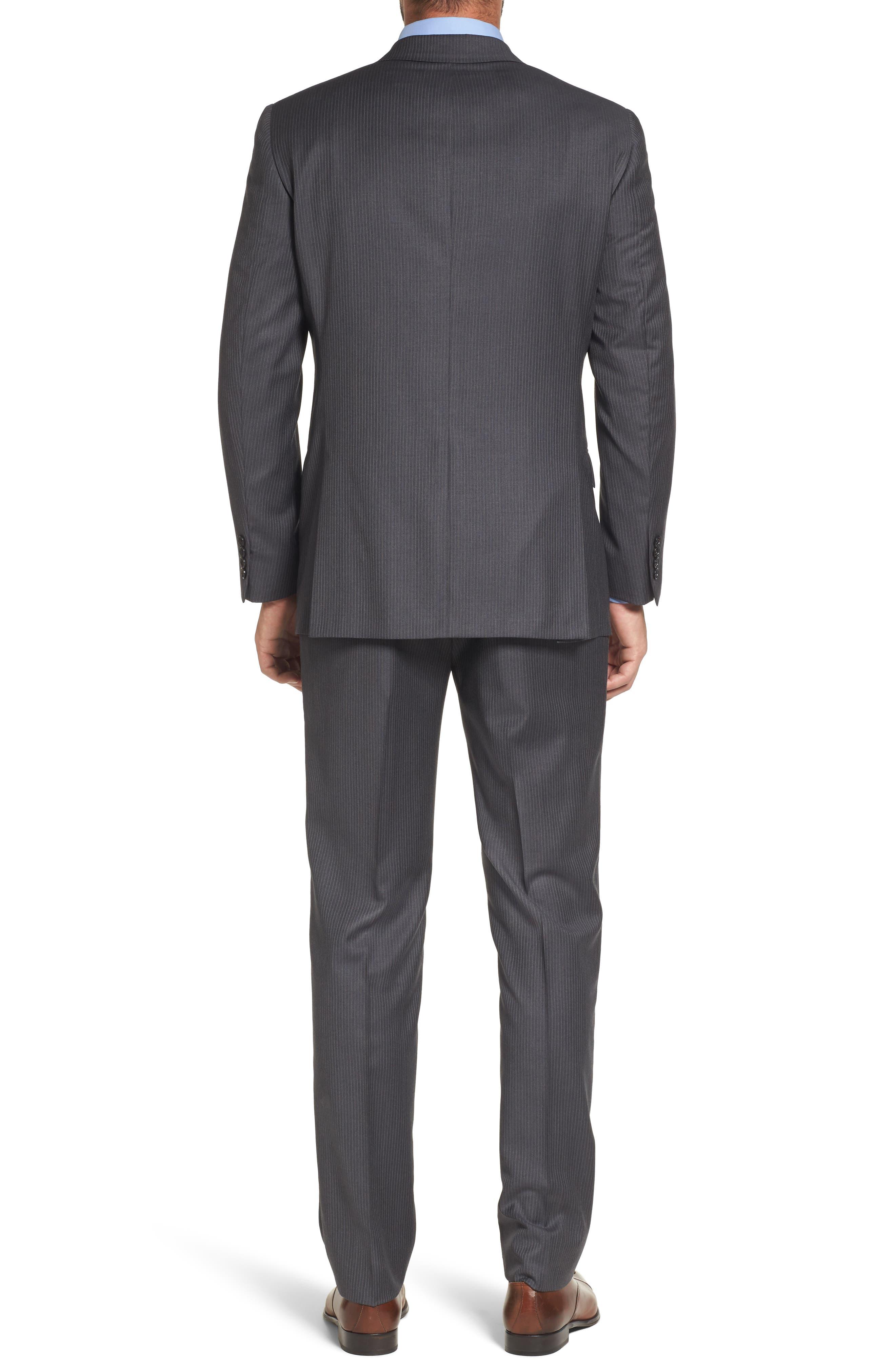 Classic Fit Stripe Wool Suit,                             Alternate thumbnail 2, color,                             030
