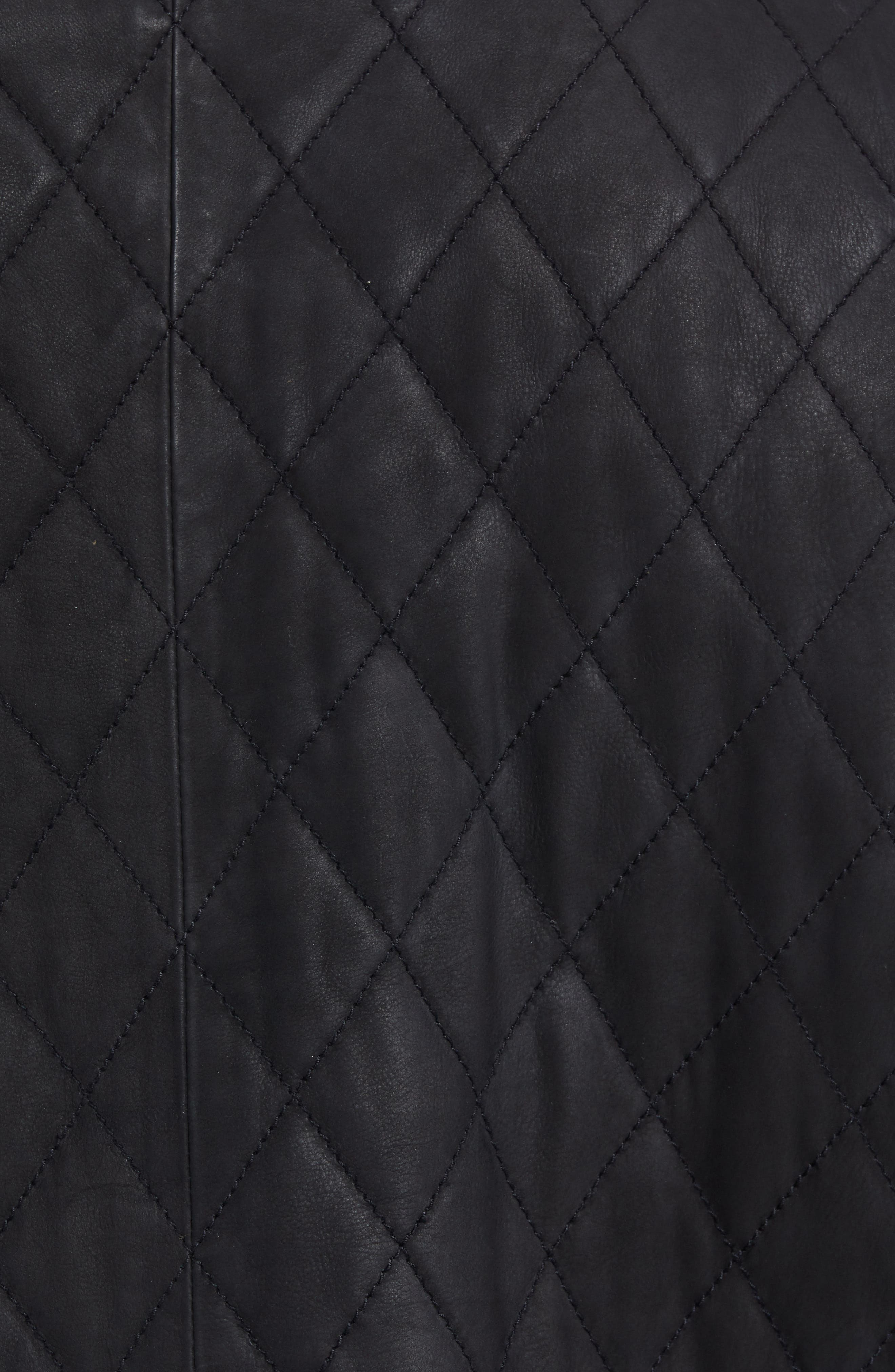 Quilted Leather Moto Jacket,                             Alternate thumbnail 6, color,