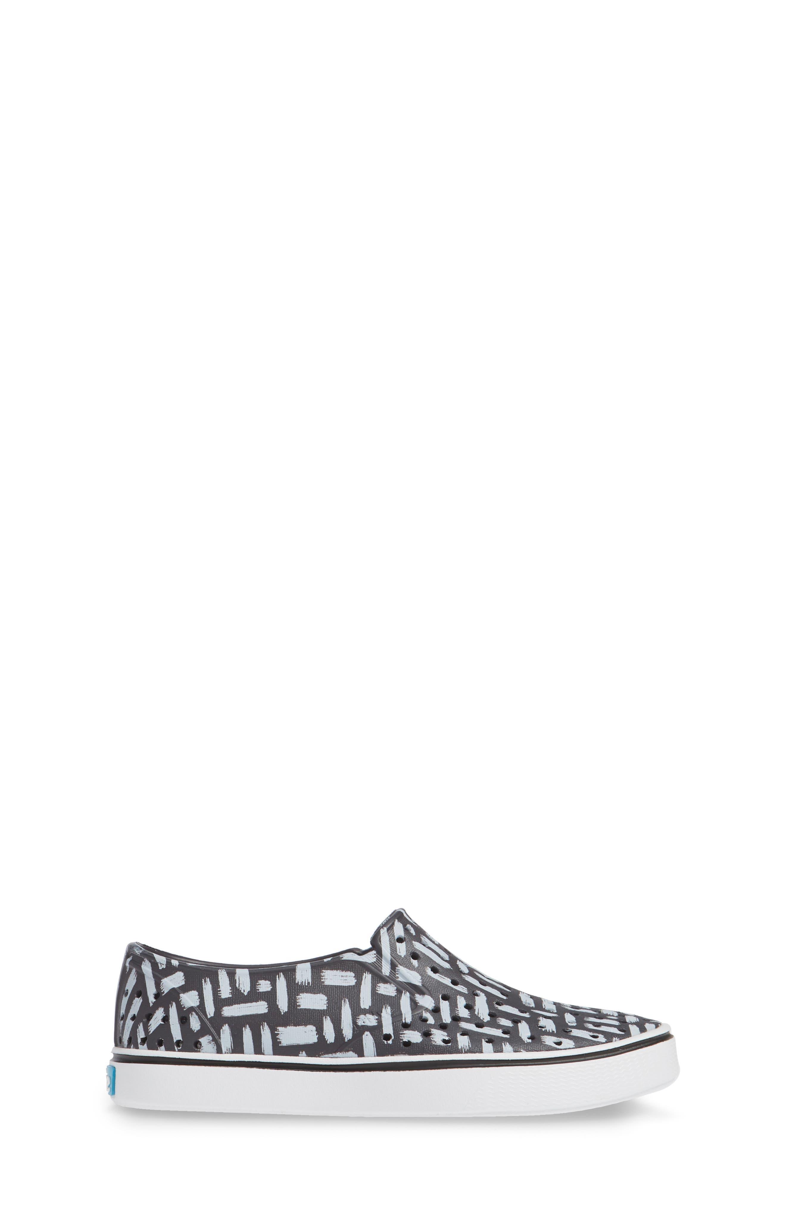 Miles Print Slip-On Sneaker,                             Alternate thumbnail 3, color,                             ONYX/ SHELL WHITE/ INKWELL