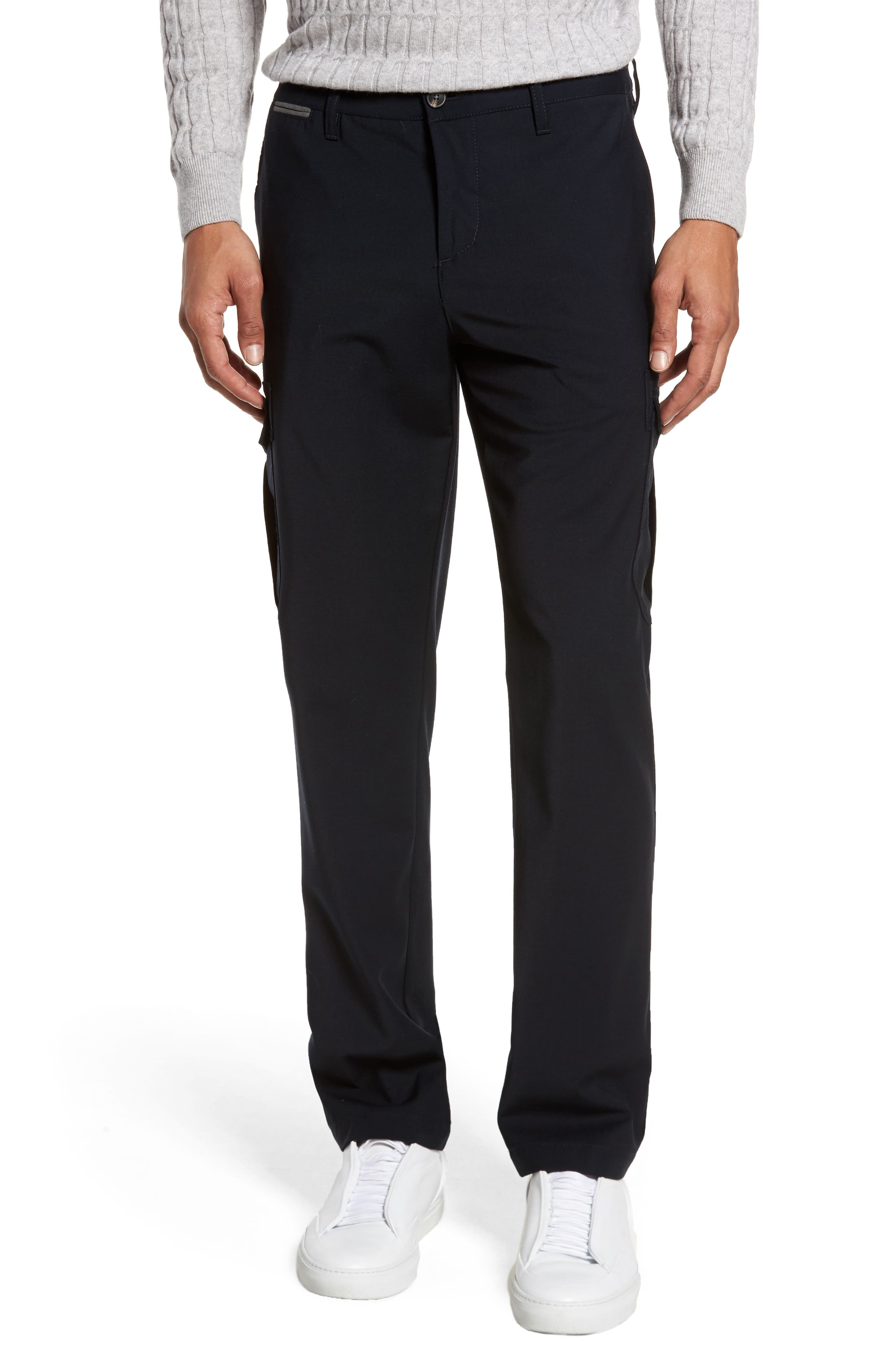 Stretch Wool Cargo Trousers,                             Main thumbnail 1, color,                             400