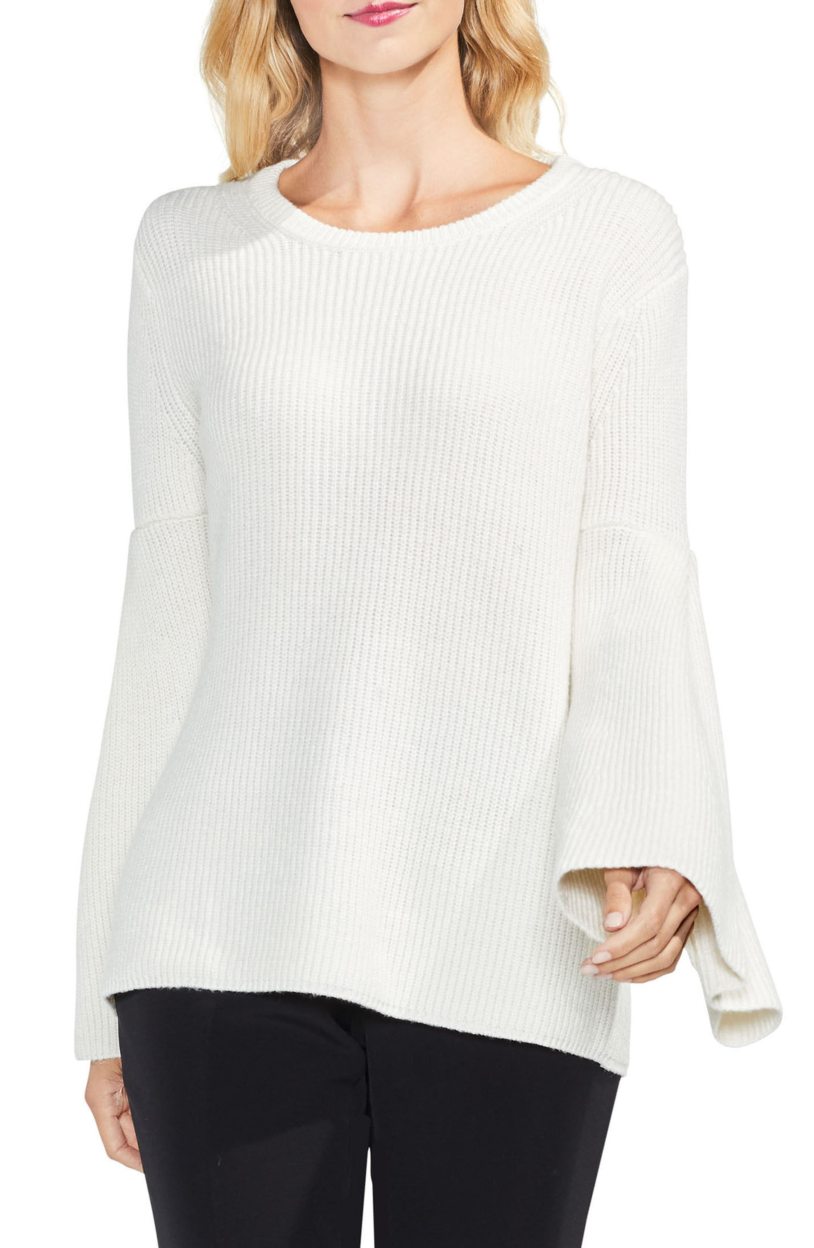 All Over Rib Bell Sleeve Sweater,                             Main thumbnail 3, color,