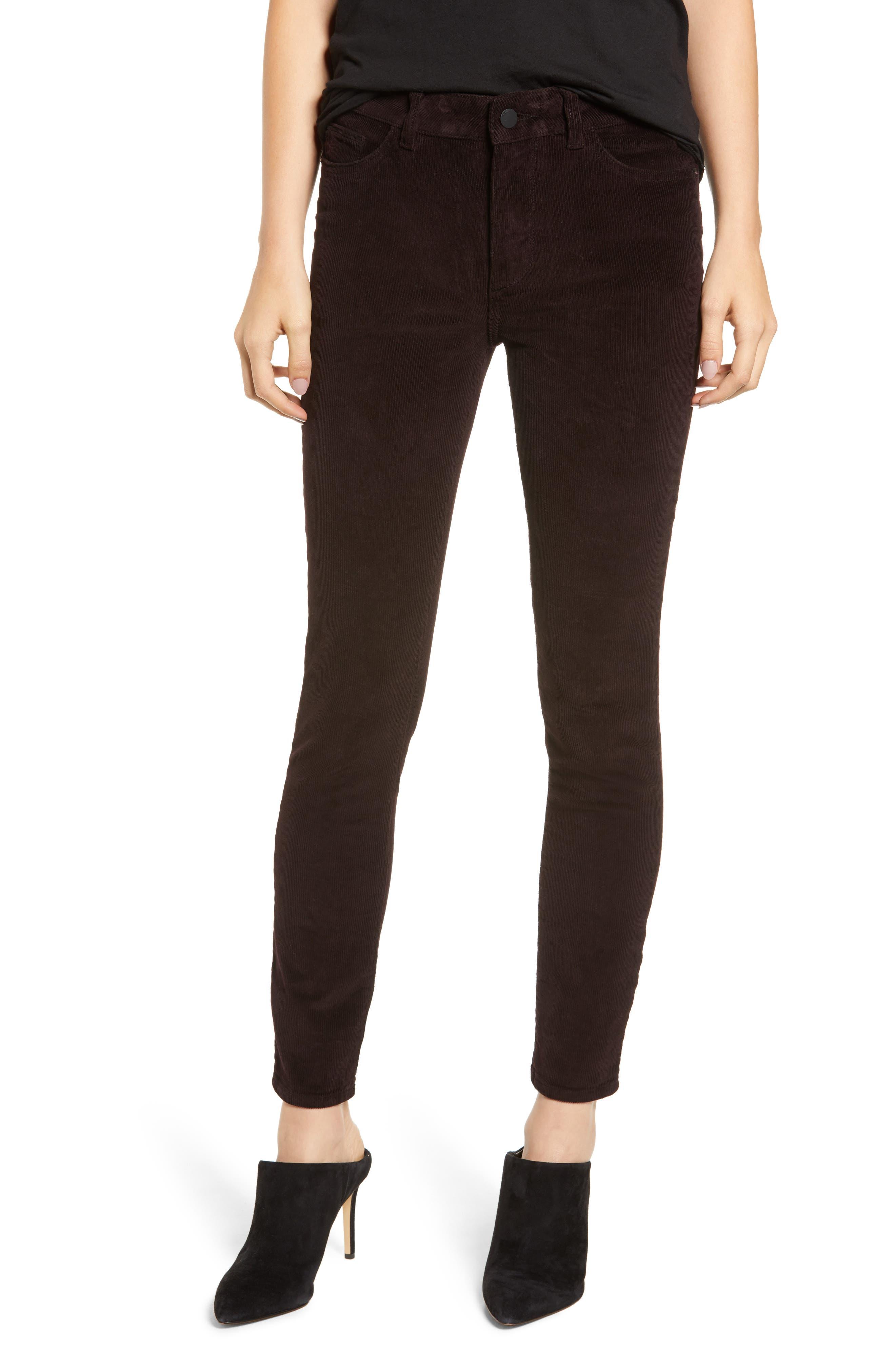 Farrow High Waist Ankle Skinny Corduroy Pants,                         Main,                         color, BIRCH LAKE