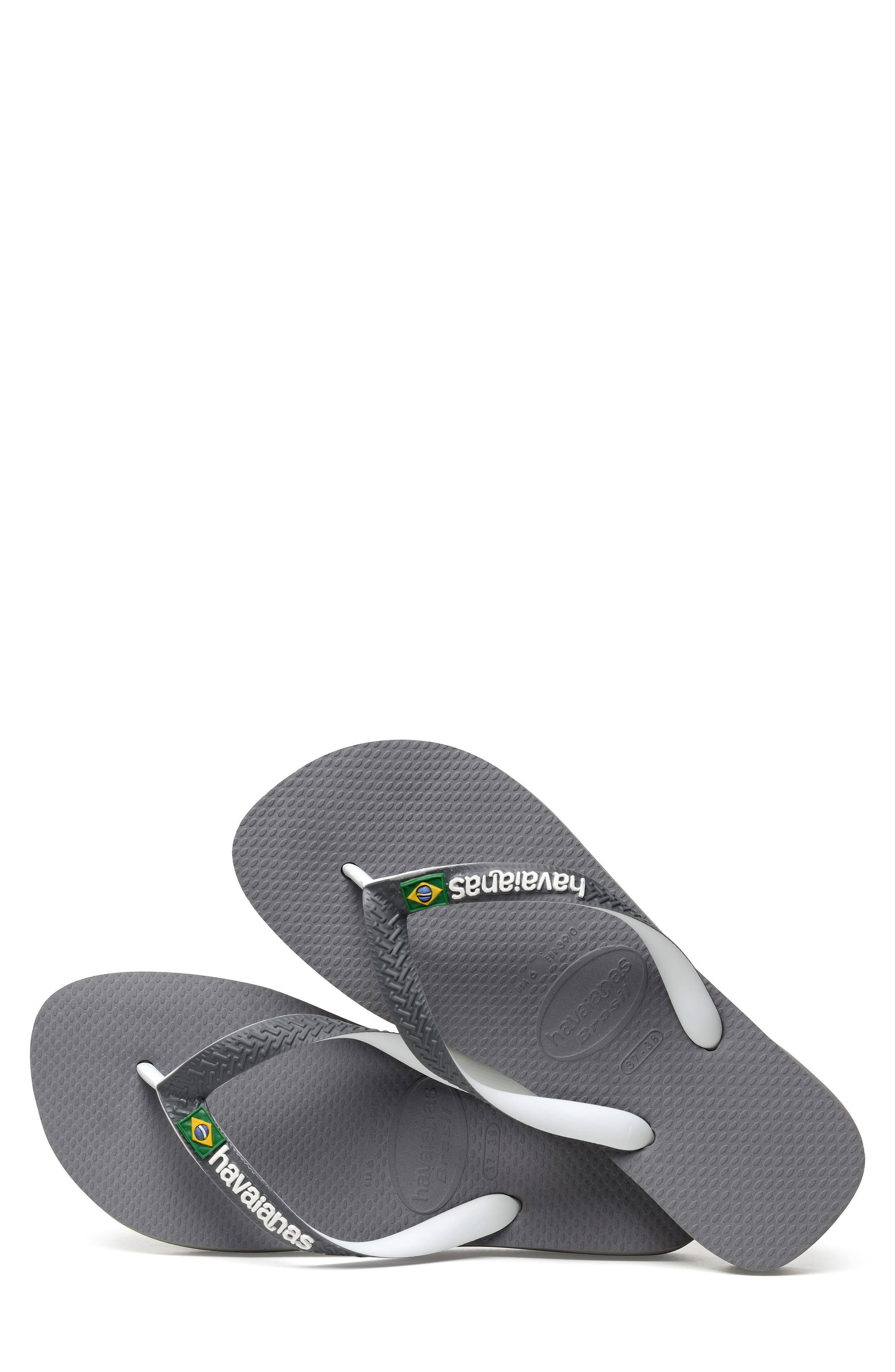 Brazil Mix Flip Flop,                             Alternate thumbnail 7, color,                             GREY