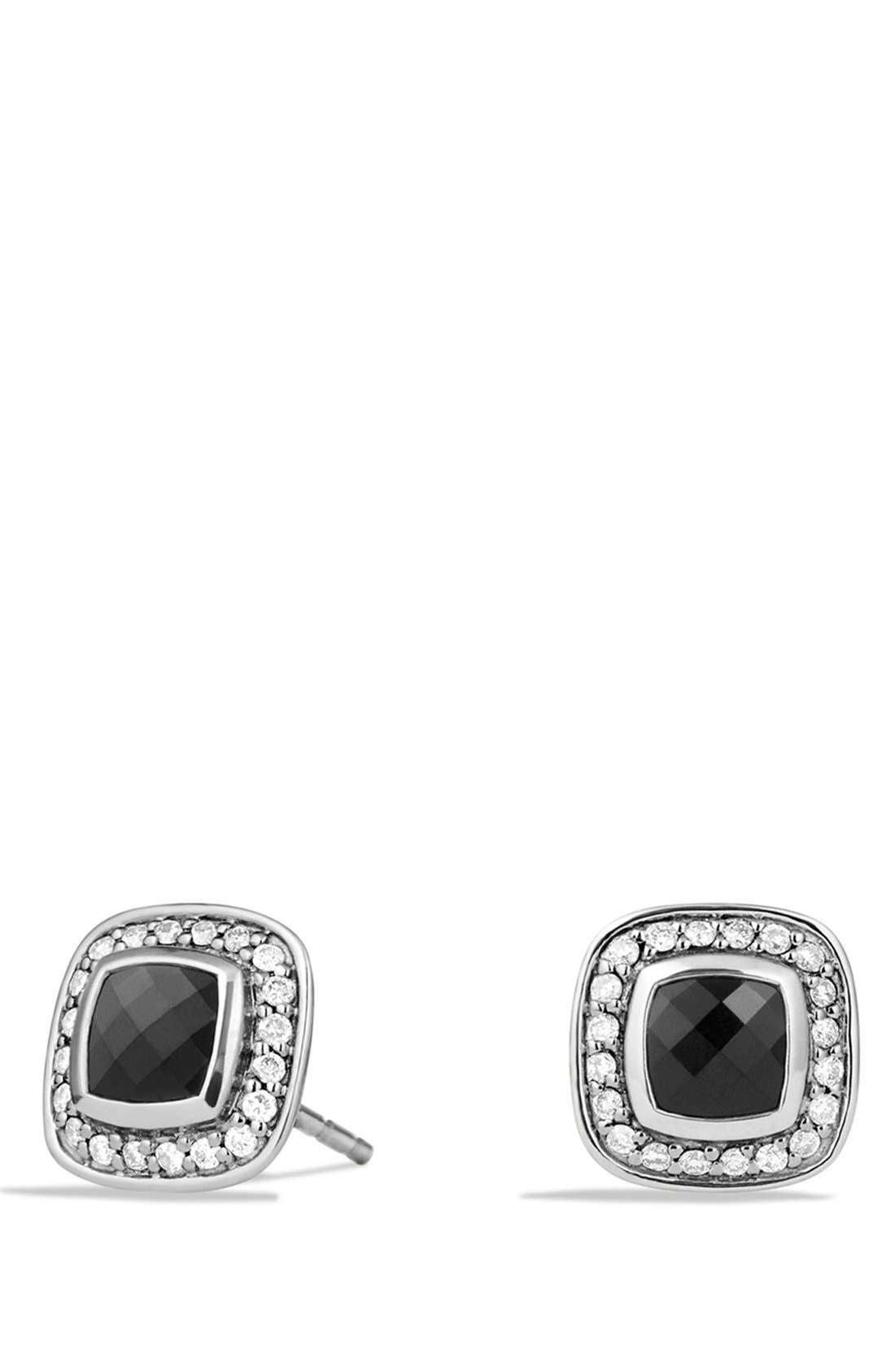 'Albion' Petite Earrings with Diamonds,                         Main,                         color, BLACK ONYX