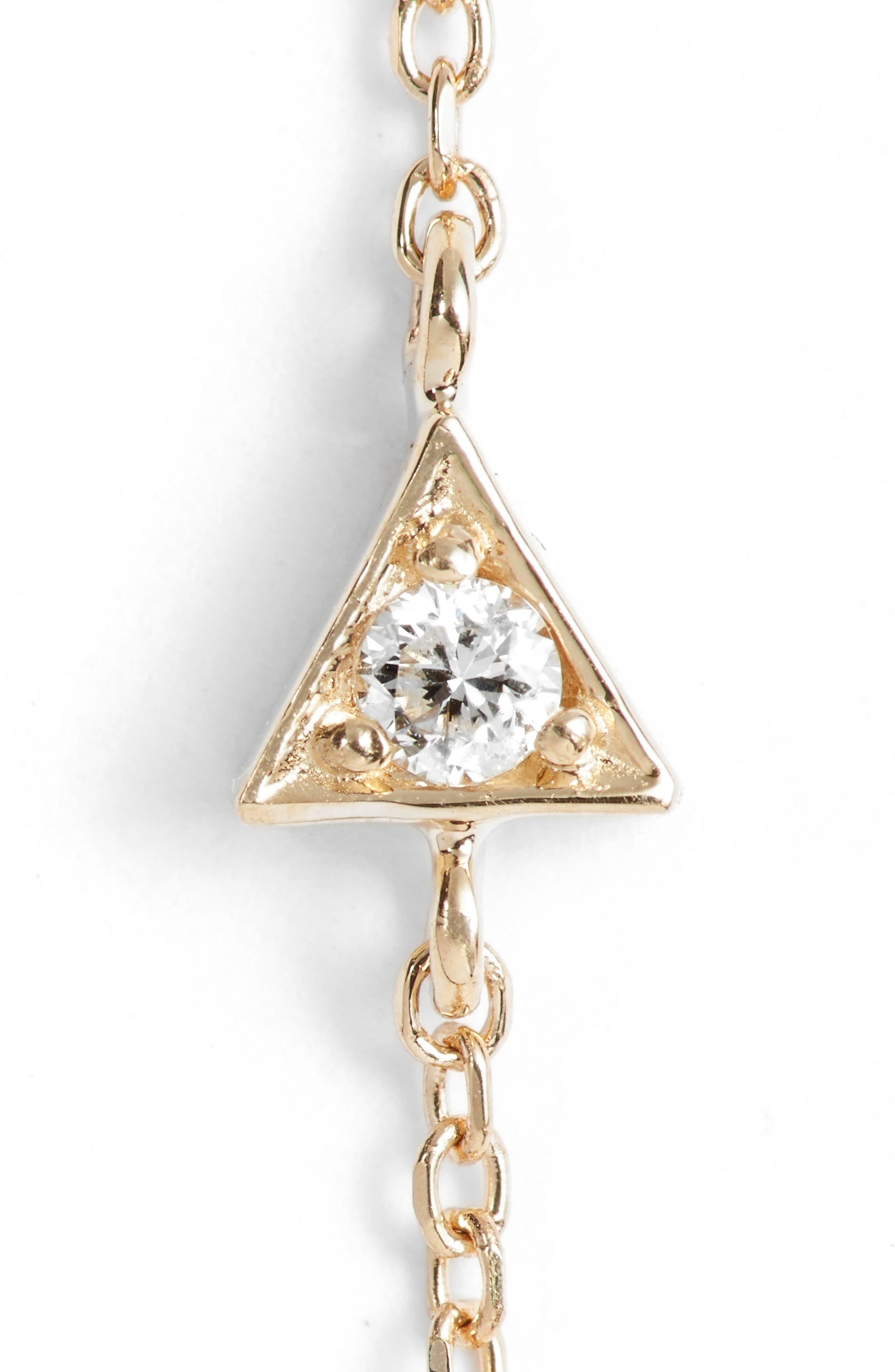 Cleo Diamond Linear Earrings,                             Alternate thumbnail 5, color,                             GOLD