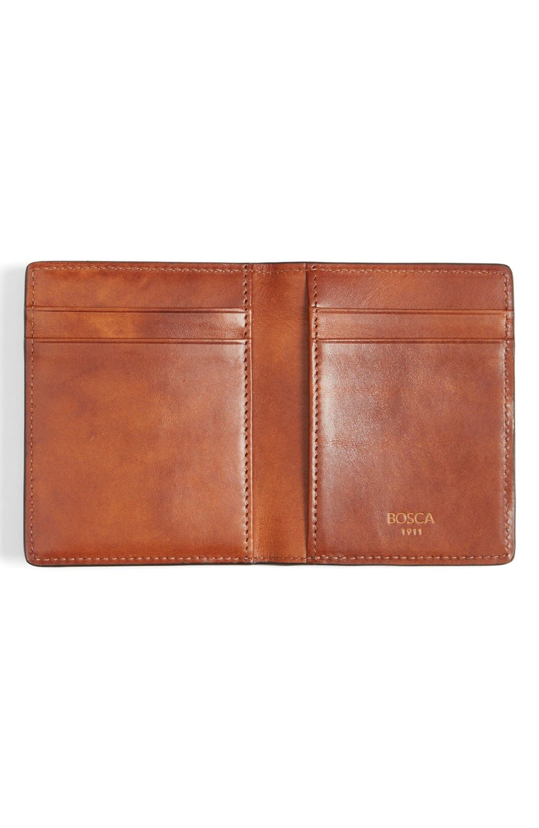 Leather Front Pocket Money Clip Wallet,                             Alternate thumbnail 3, color,                             233