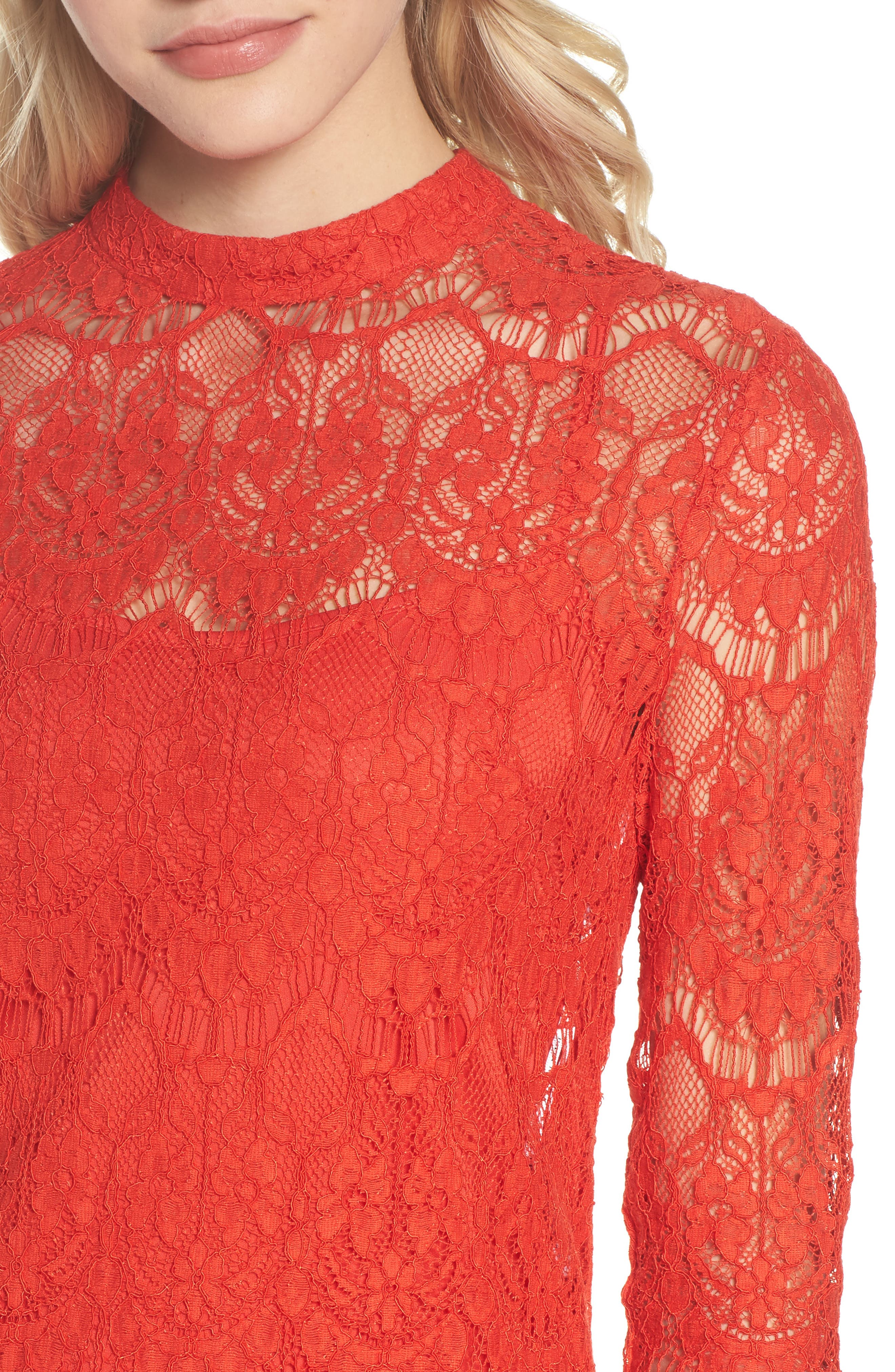Lace Sheath Dress,                             Alternate thumbnail 4, color,                             640