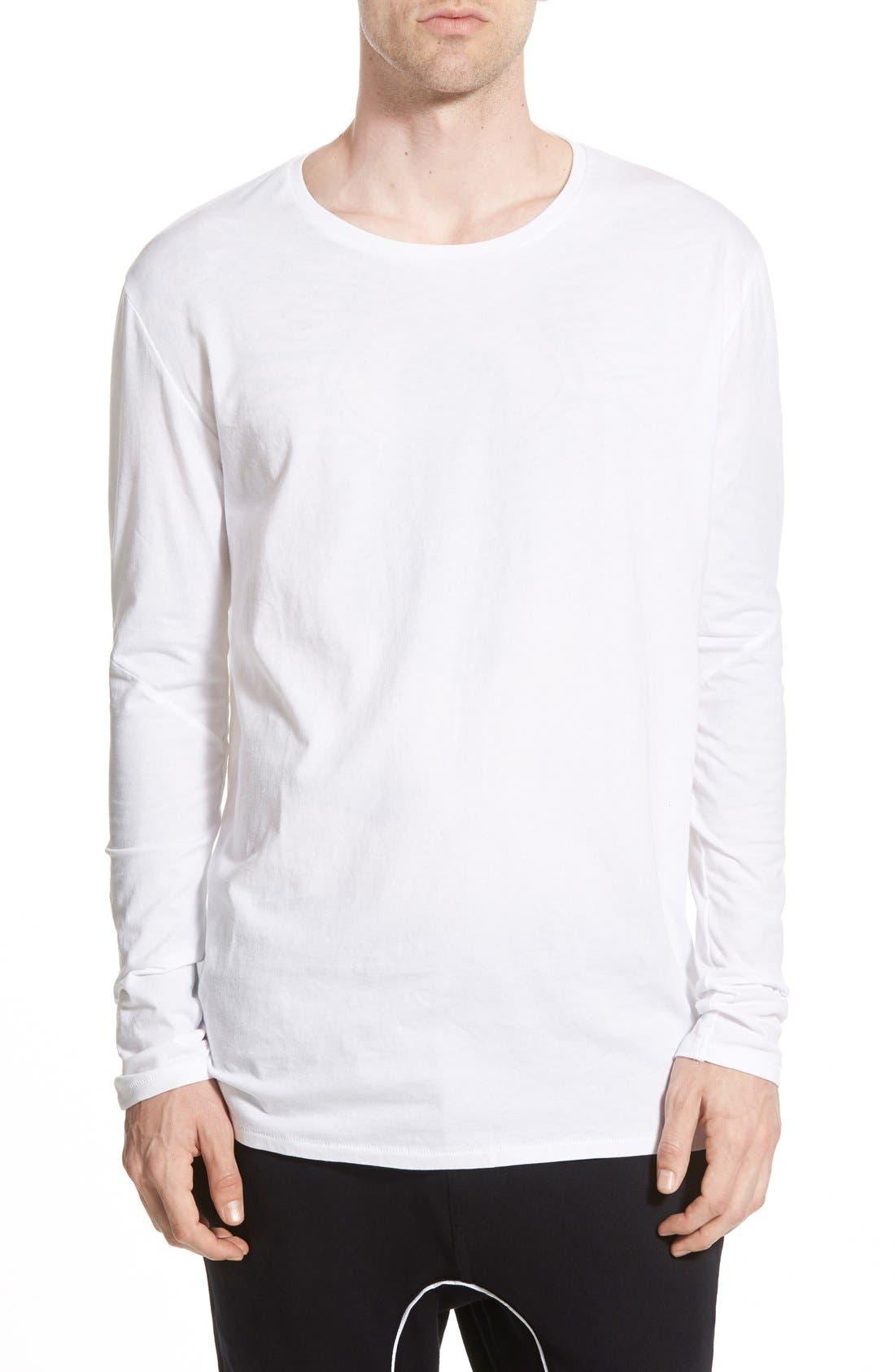 Flintlock Longline Long Sleeve T-Shirt,                             Main thumbnail 1, color,                             WHITE